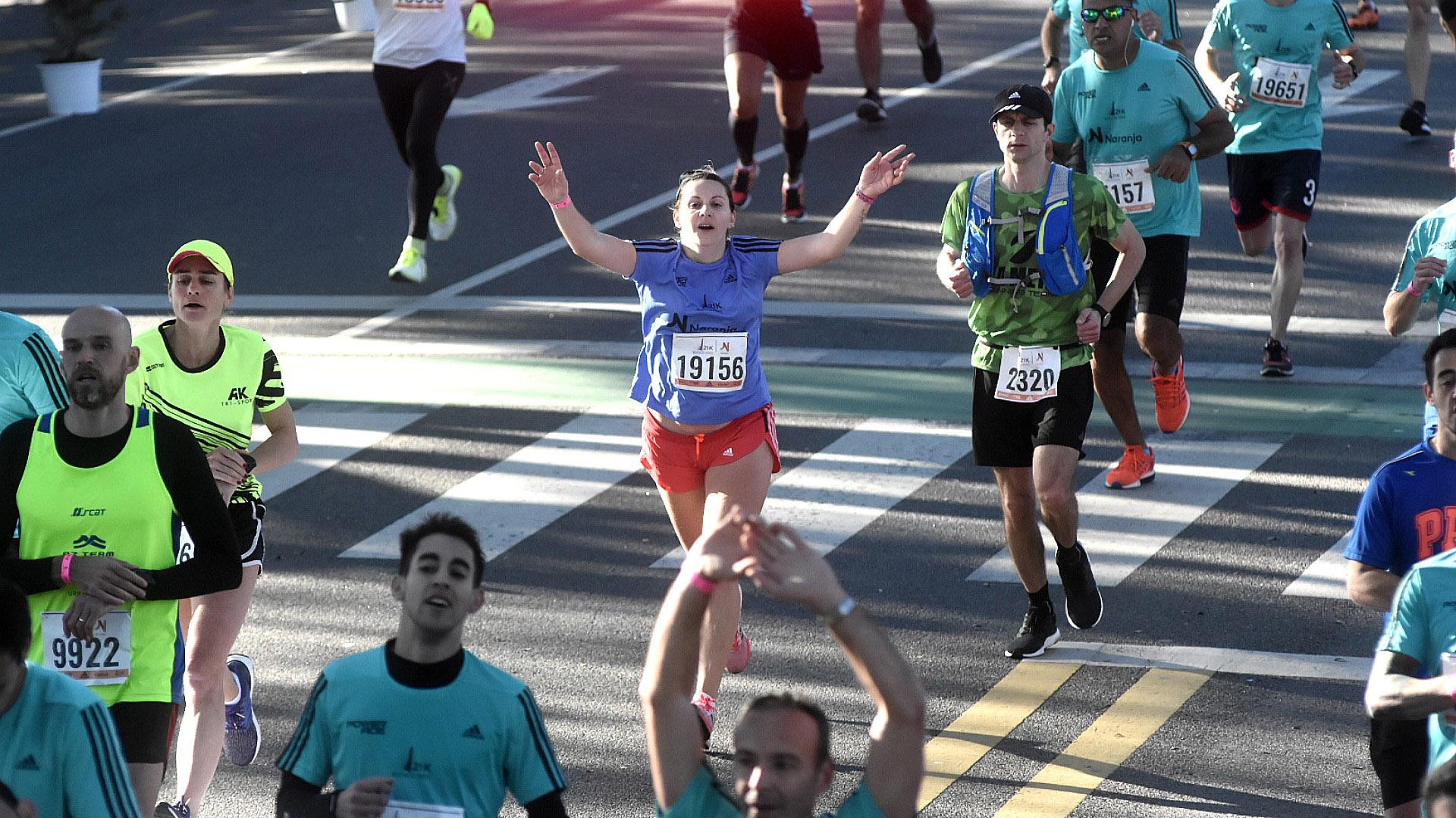 El alivio y la felicidad de lograr el objetivo se ve en los ojos de los corredores que comienzan a llegar