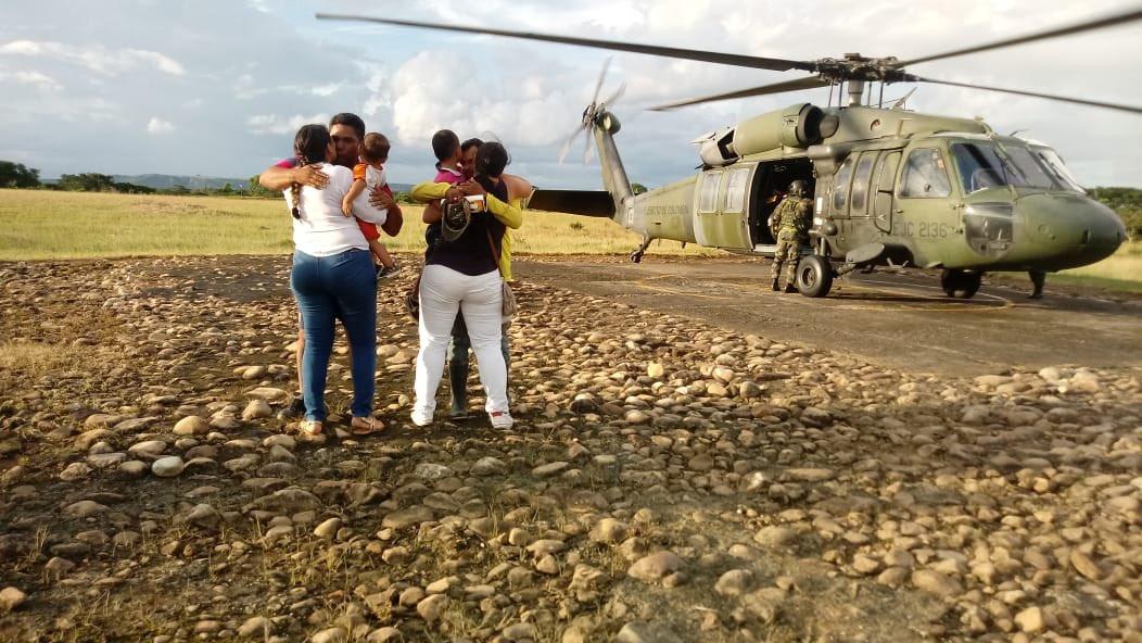 Liberación de secuestrados por la guerrilla del ELN en Colombia.