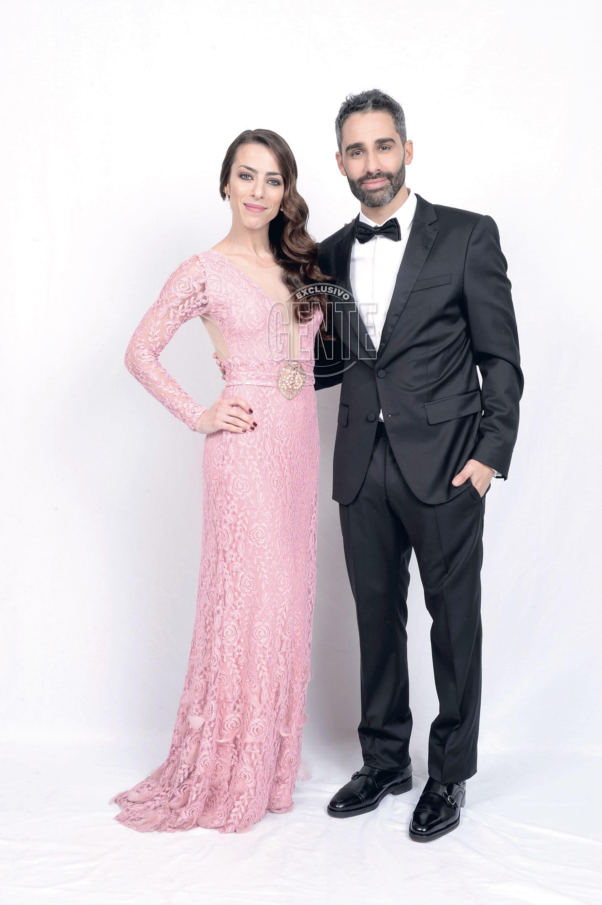 Pollo Álvarez (figura De Multitalent, by Hugo Boss) y Yamila RamÍrez (por Nahia Design)