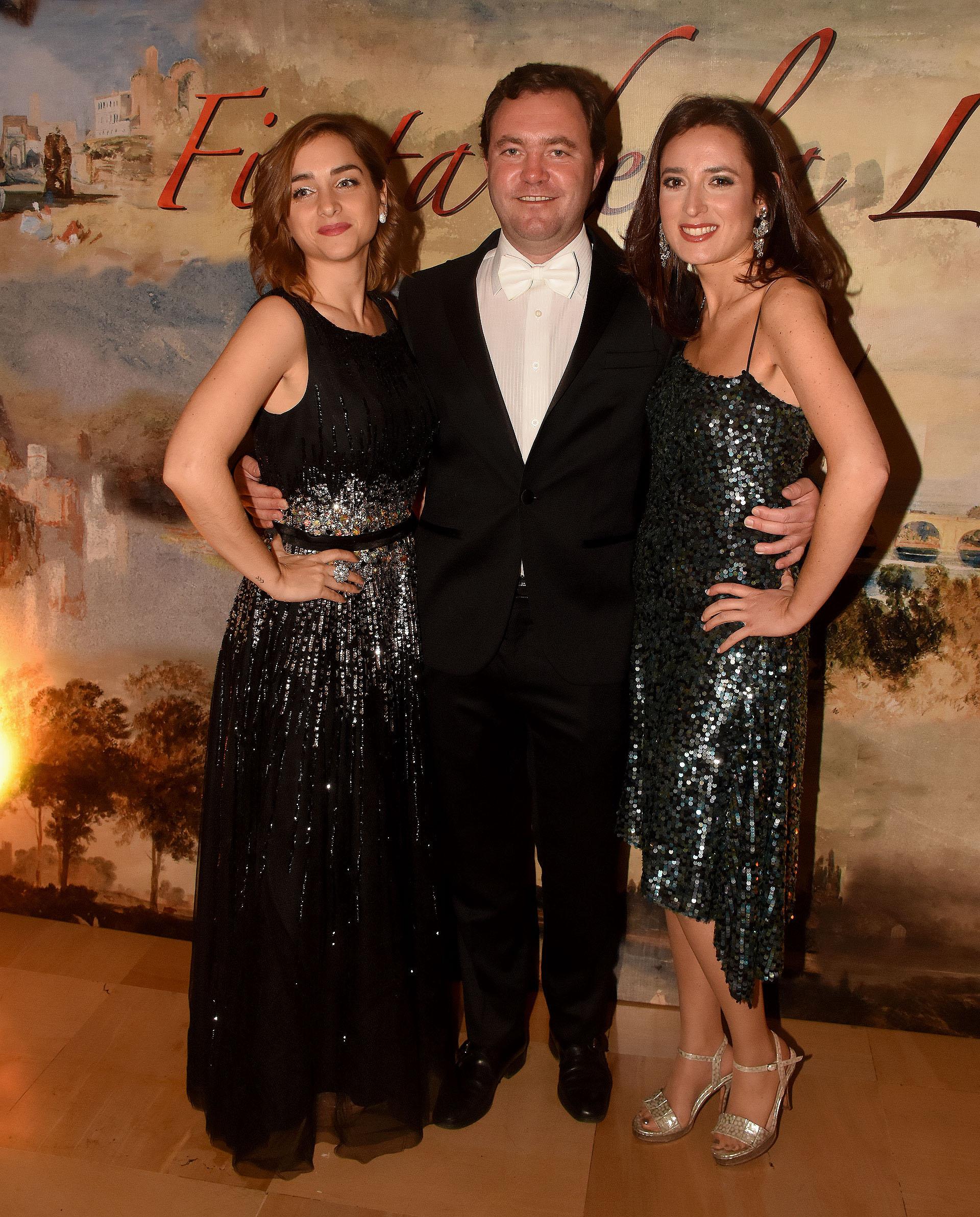 Ayelen Privato, Matías Martins y Magdalena Grüneisen