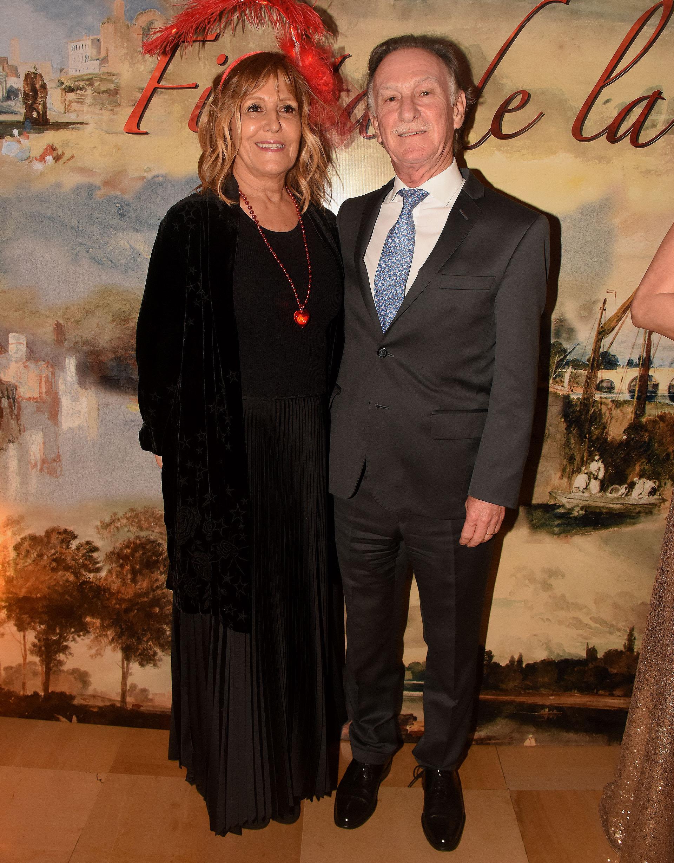 Ana Bustamante y el presidente de la Cámara Argentina de la Construcción, Gustavo Weiss