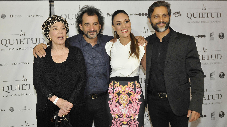 Los protagonistas de la película Graciela Borges, Martina Gusman y Joaquín Furriel, acompañados por el director Pablo Trapero (Teleshow)