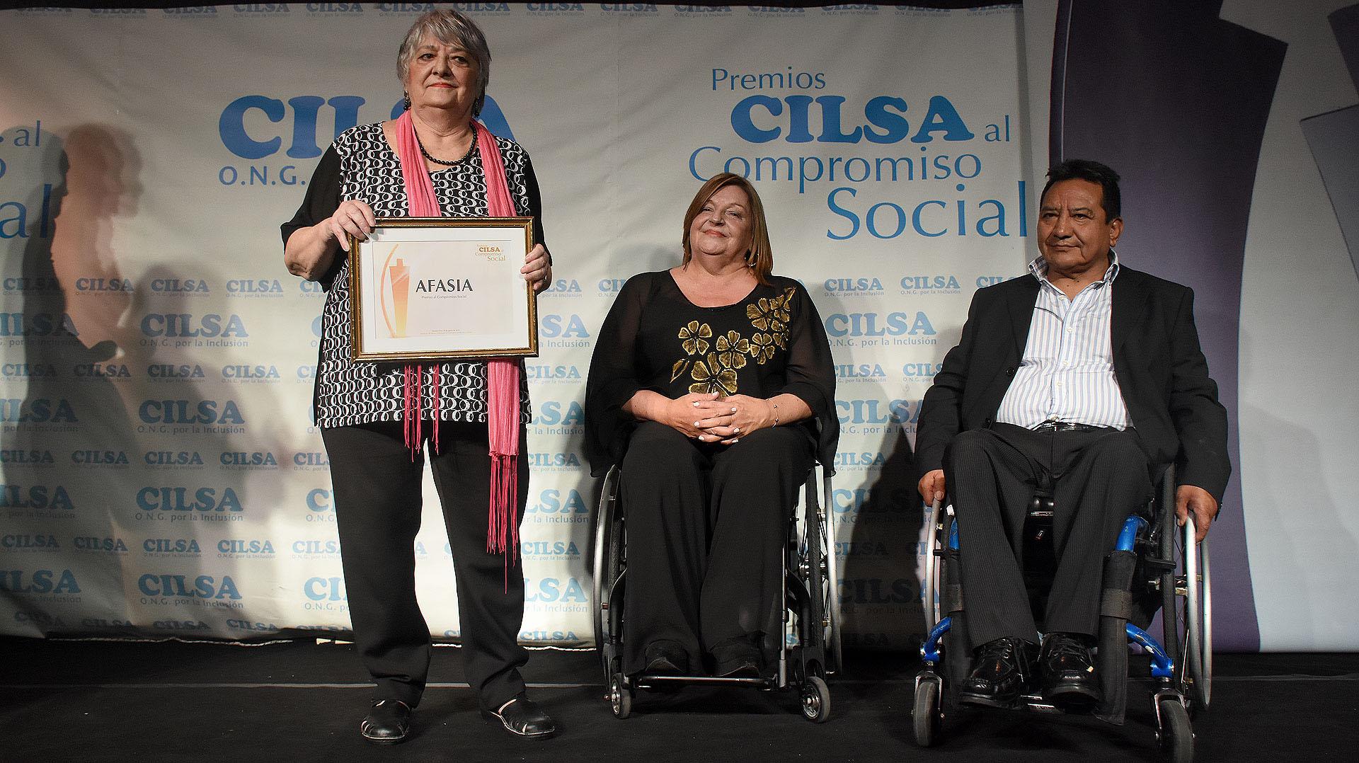 La distinción para la Fundación Argentina de AFASIA, cuya madrina es Carla Peterson