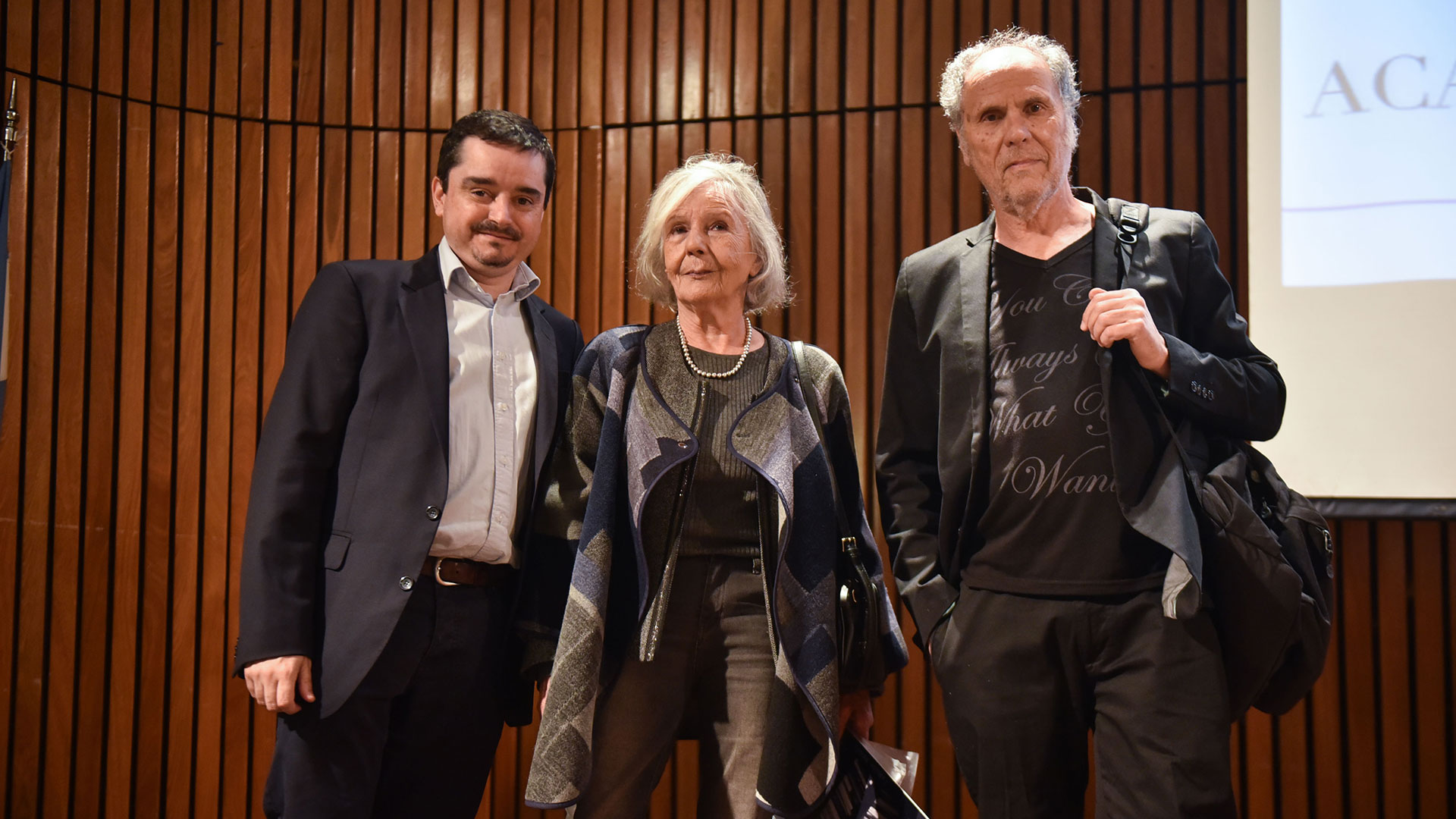 José Crettaz, Beatriz Sarlo y Tomás Abraham