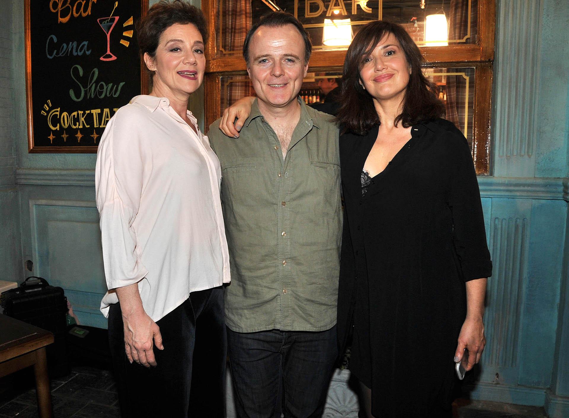 María Onetto, Luis Machín y Andrea Bonelli