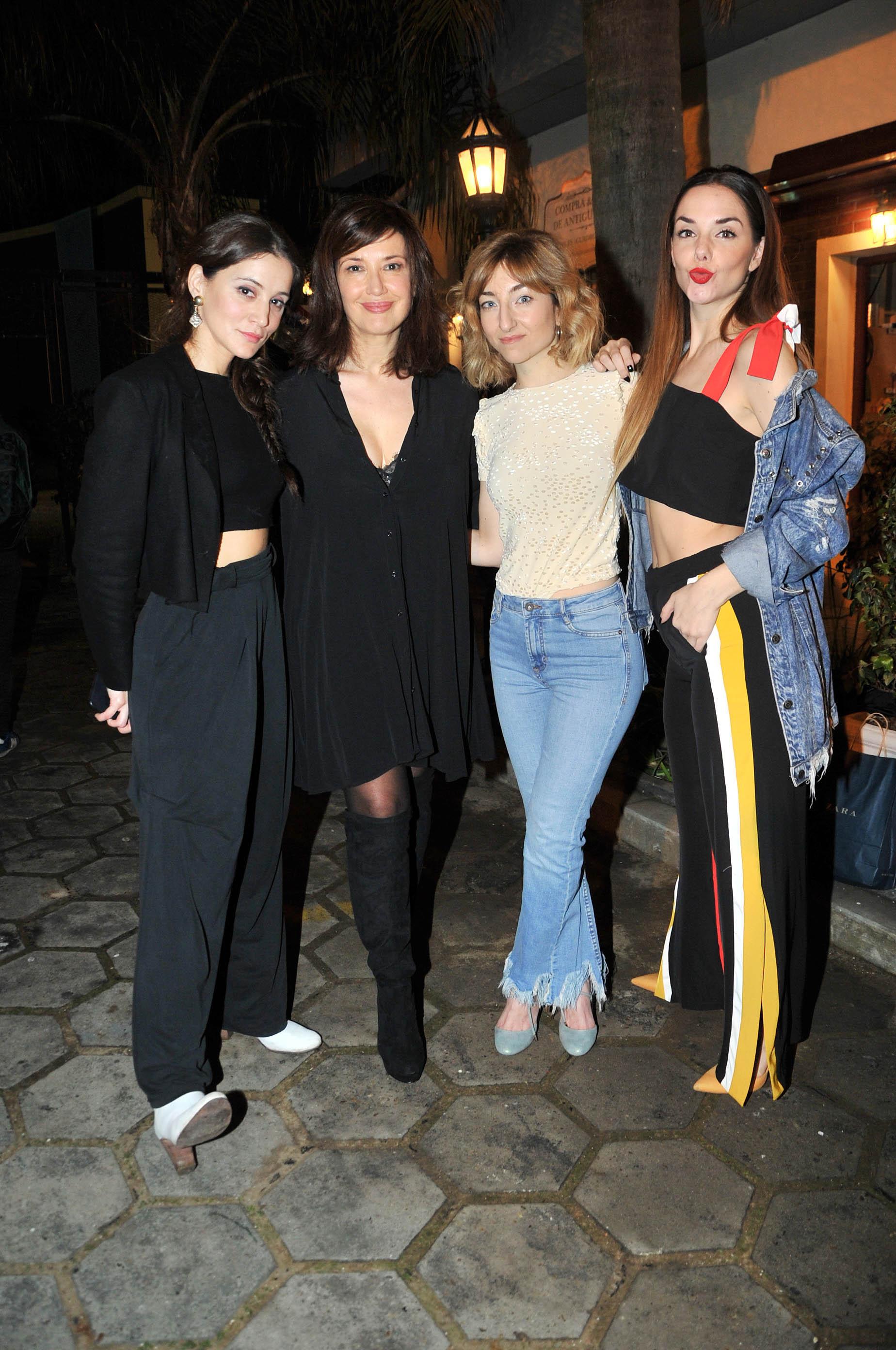 Bárbara Lombardo, Andrea Bonelli, Maida Andrenacci y Julieta Nair Calvo