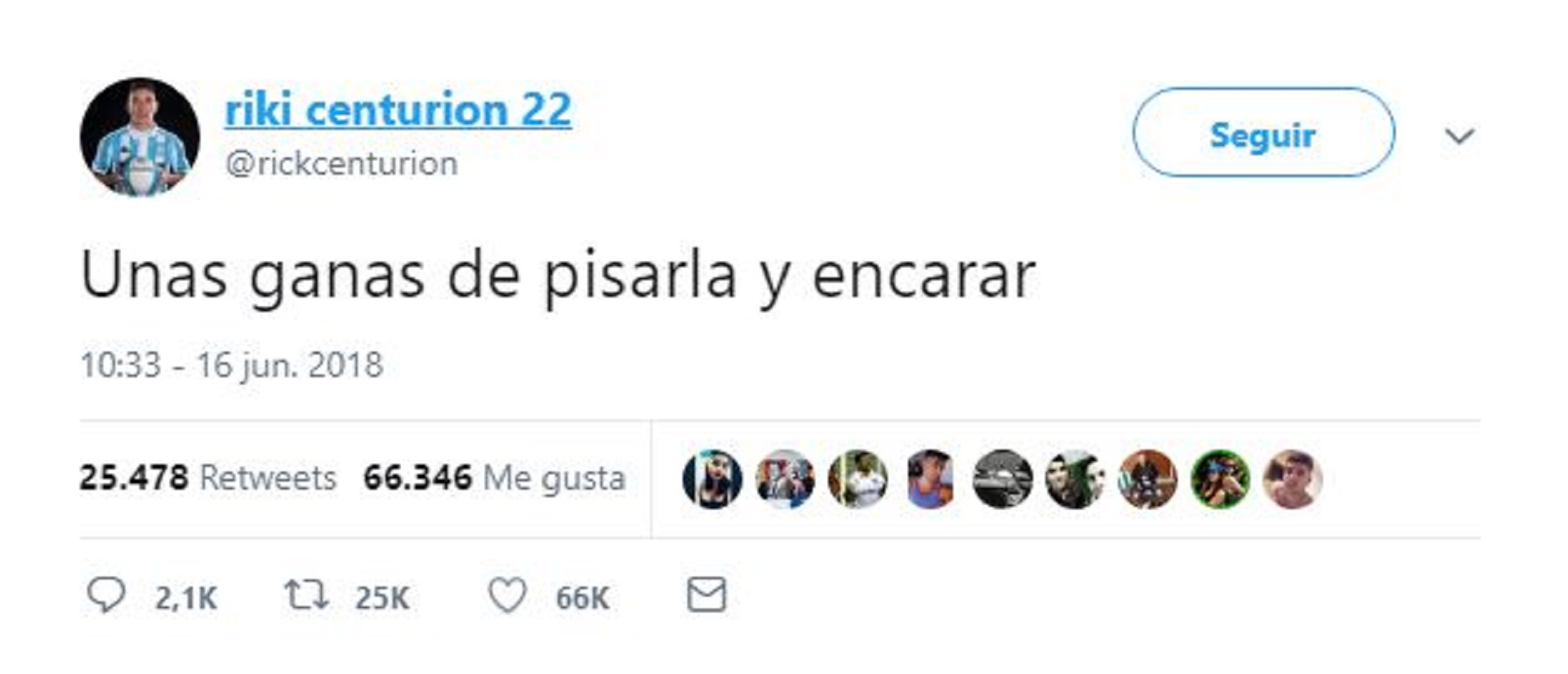 El tweet de Centurión en pleno empate ante Islandia en el Mundial