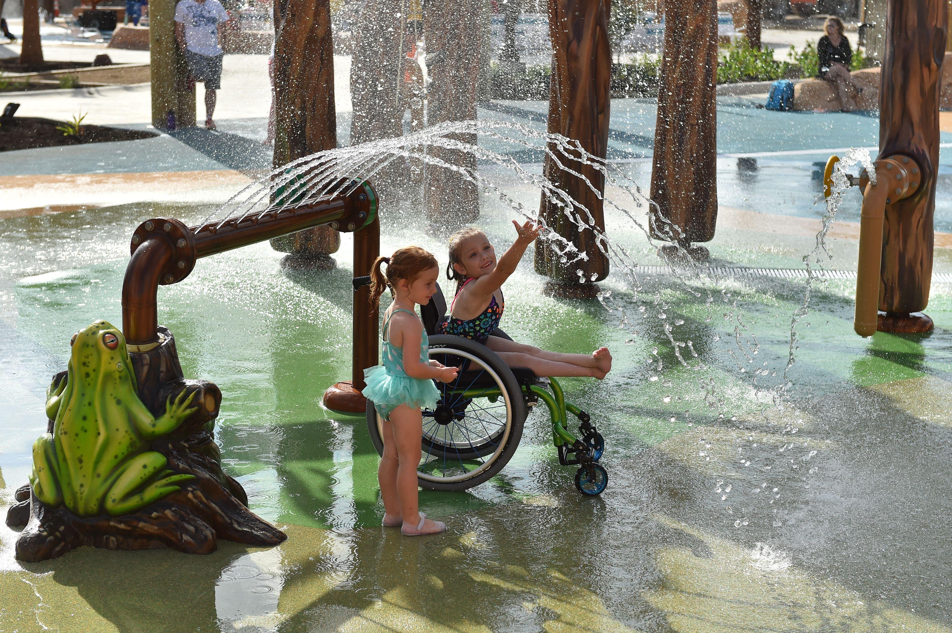Morgan's Inspiration Island es un parque acuático para niños discapacitados. (Robin Jerstad/Jerstad Photographics)