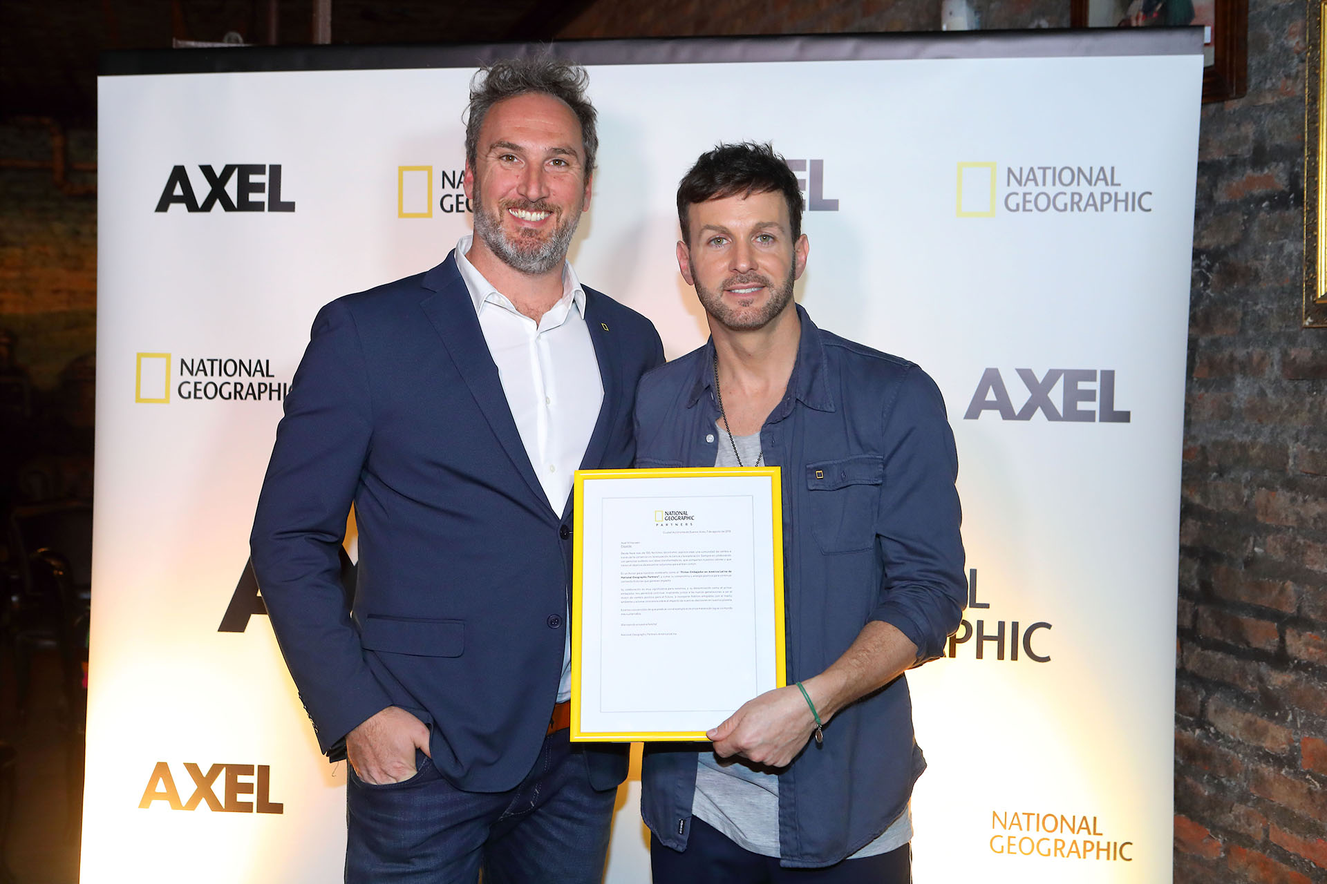Axel fue nombrado Primer Embajador en América Latina de National Geographic Partners. El cantante obtuvo este reconocimiento por su compromiso ambiental y social