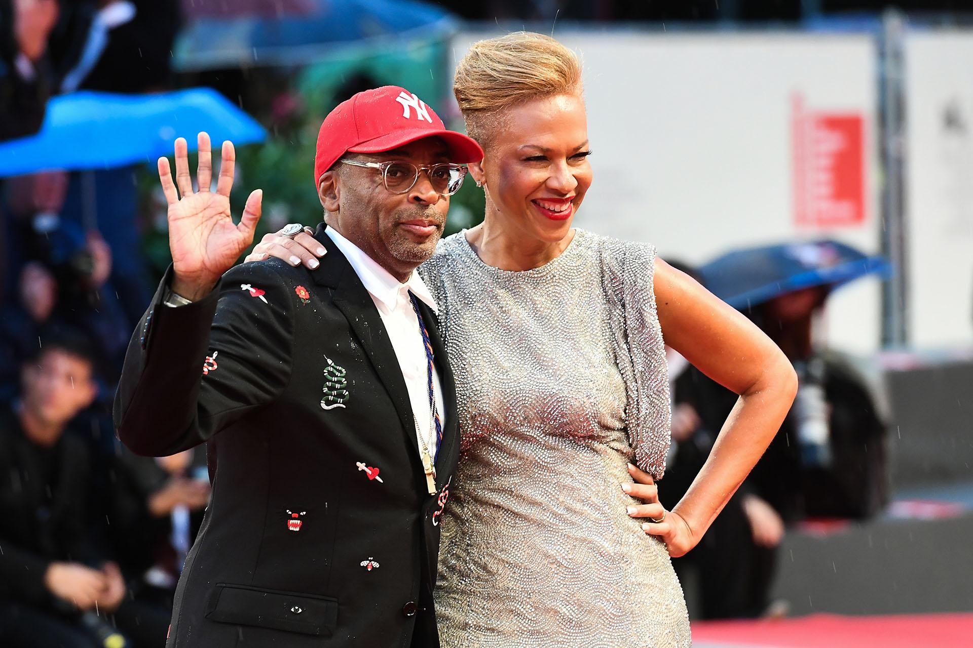 El director Spike Lee y su mujer Tonya Lewis Lee