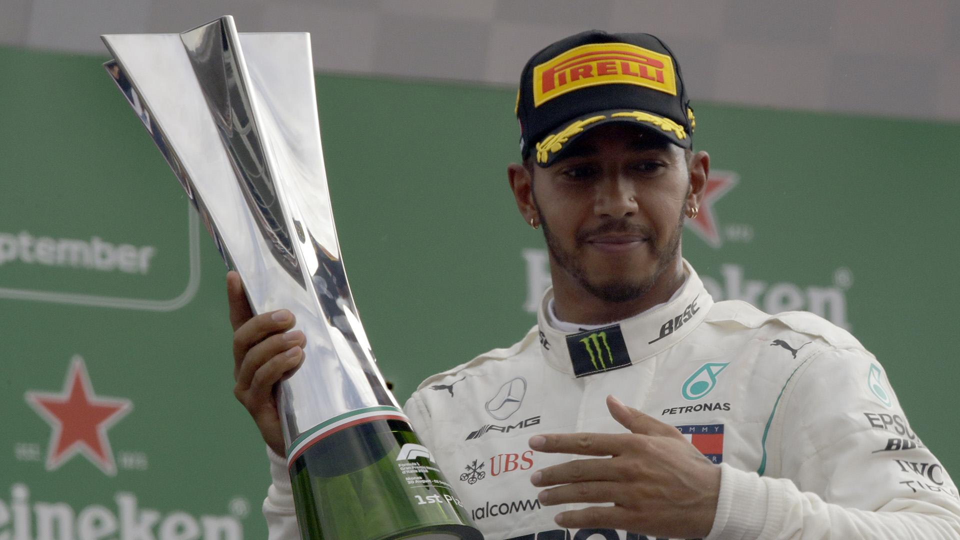 Hamilton podrá ser campeón en la próxima carrera (AP)