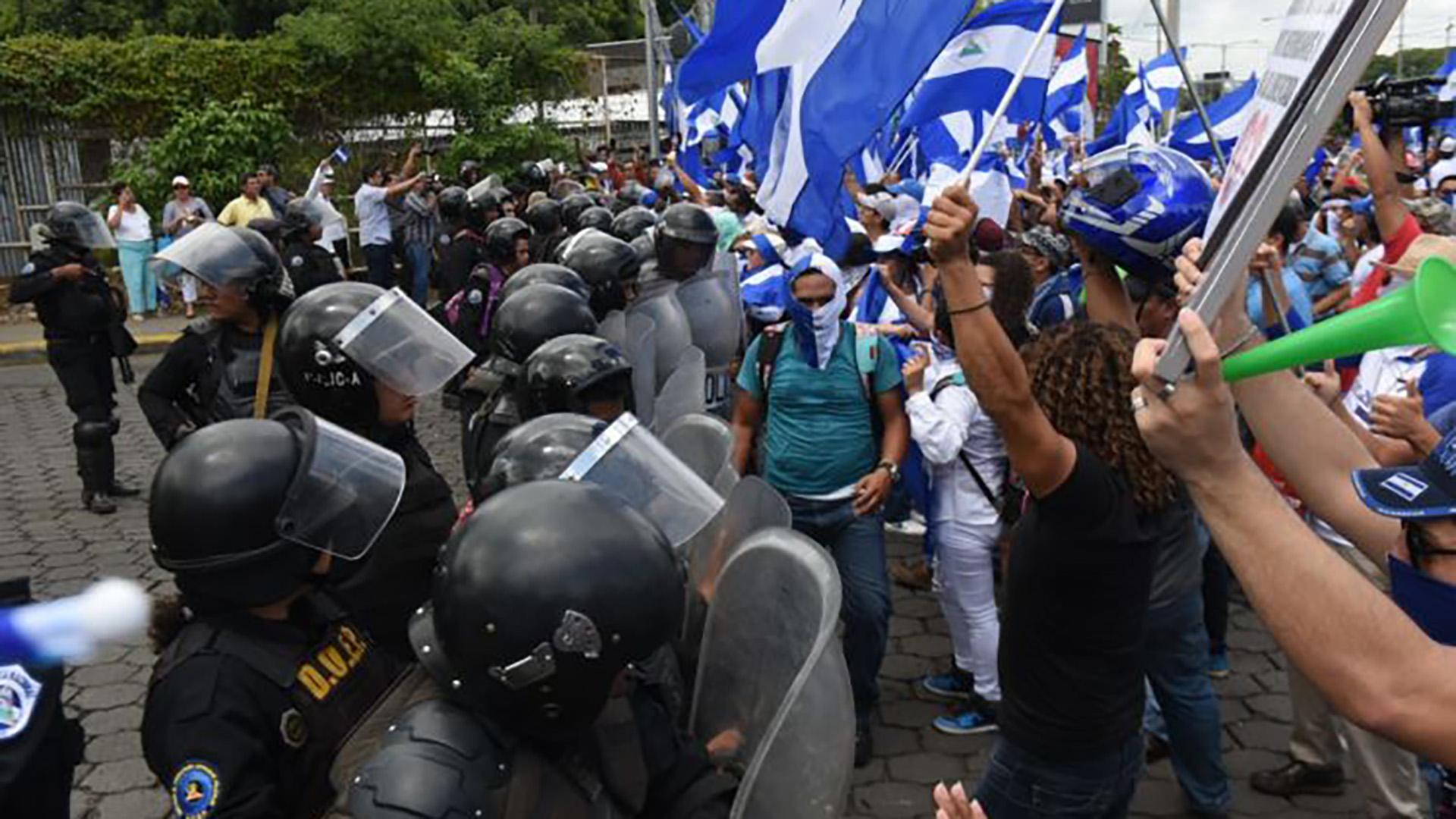 Tiroteo en manifestación contra Ortega deja un herido en Nicaragua