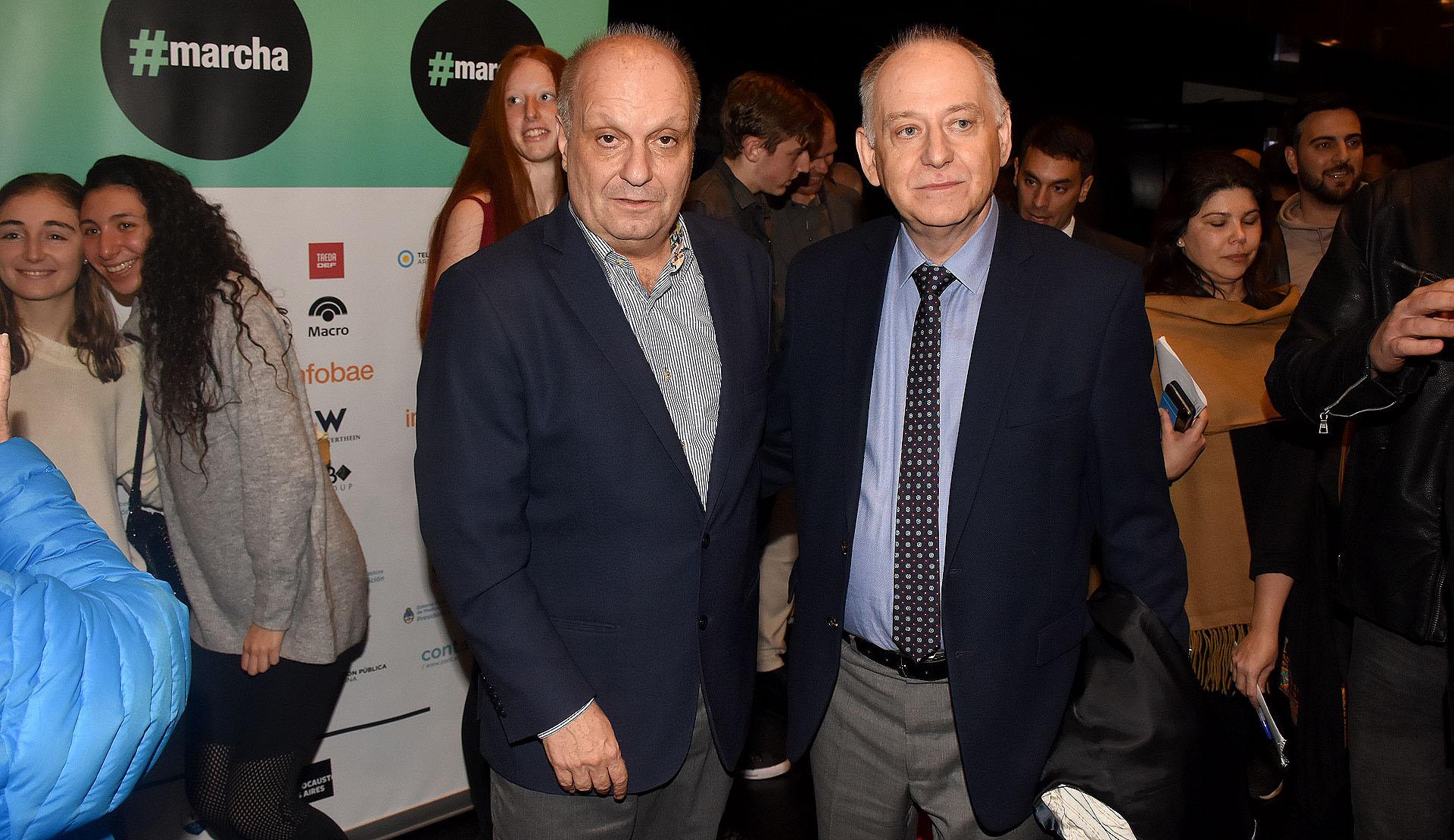 Hernán Lombardi junto al encargado de Negocios de la embajada de Polonia en la Argentina, Marceli Minc