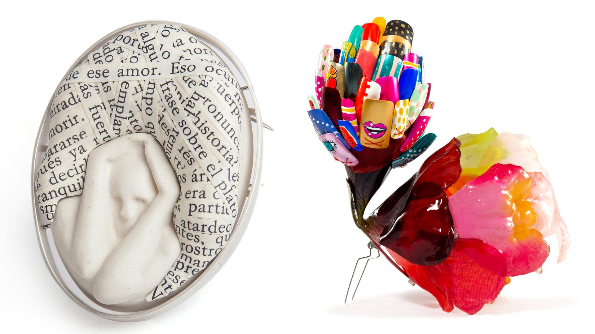 Dos piezas de la II Bienal de Joyería