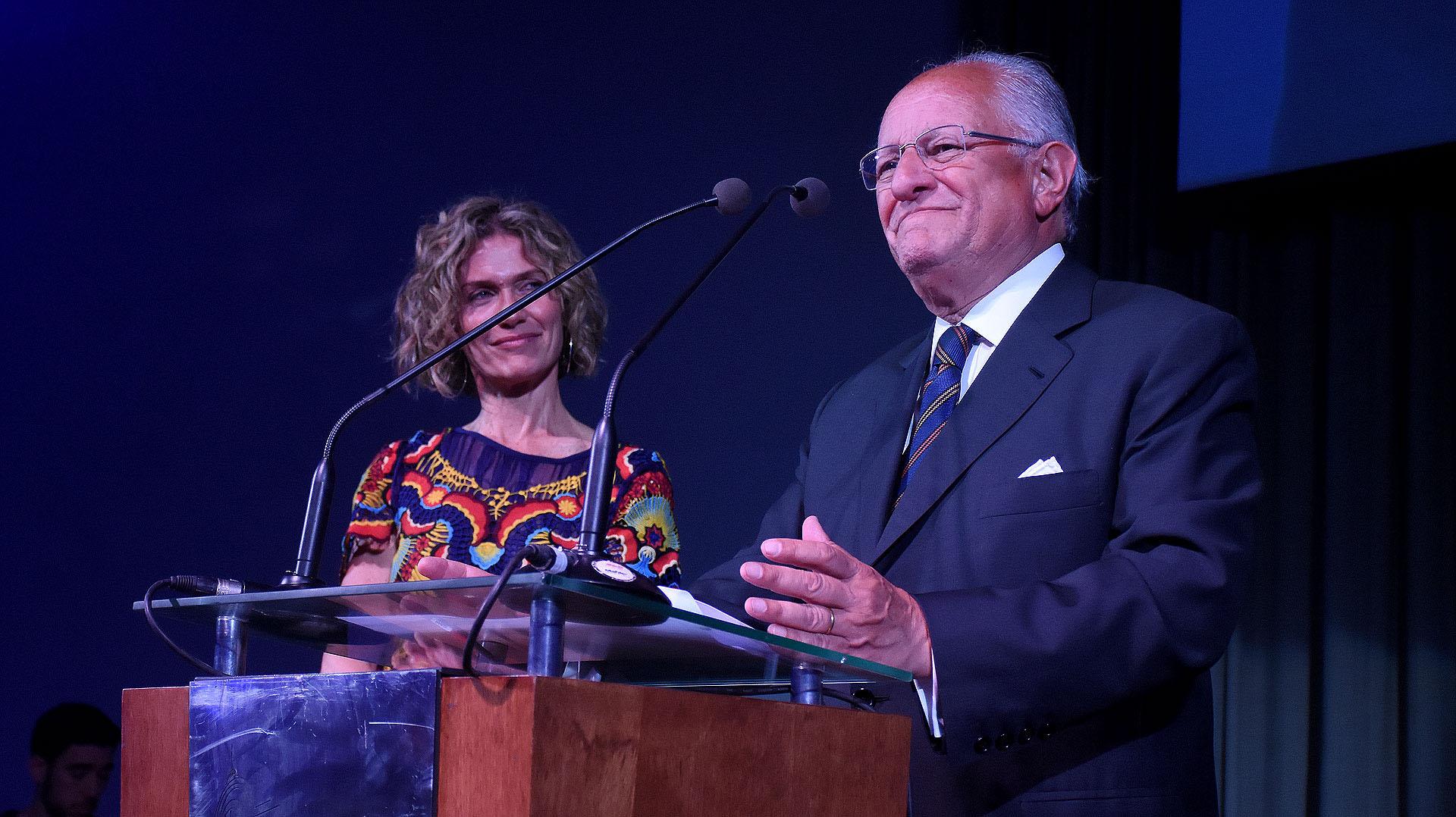 Abel Albino, fundador y presidente de la Fundación CONIN Argentina, durante su discurso en la cena por los 25 años de esa entidad