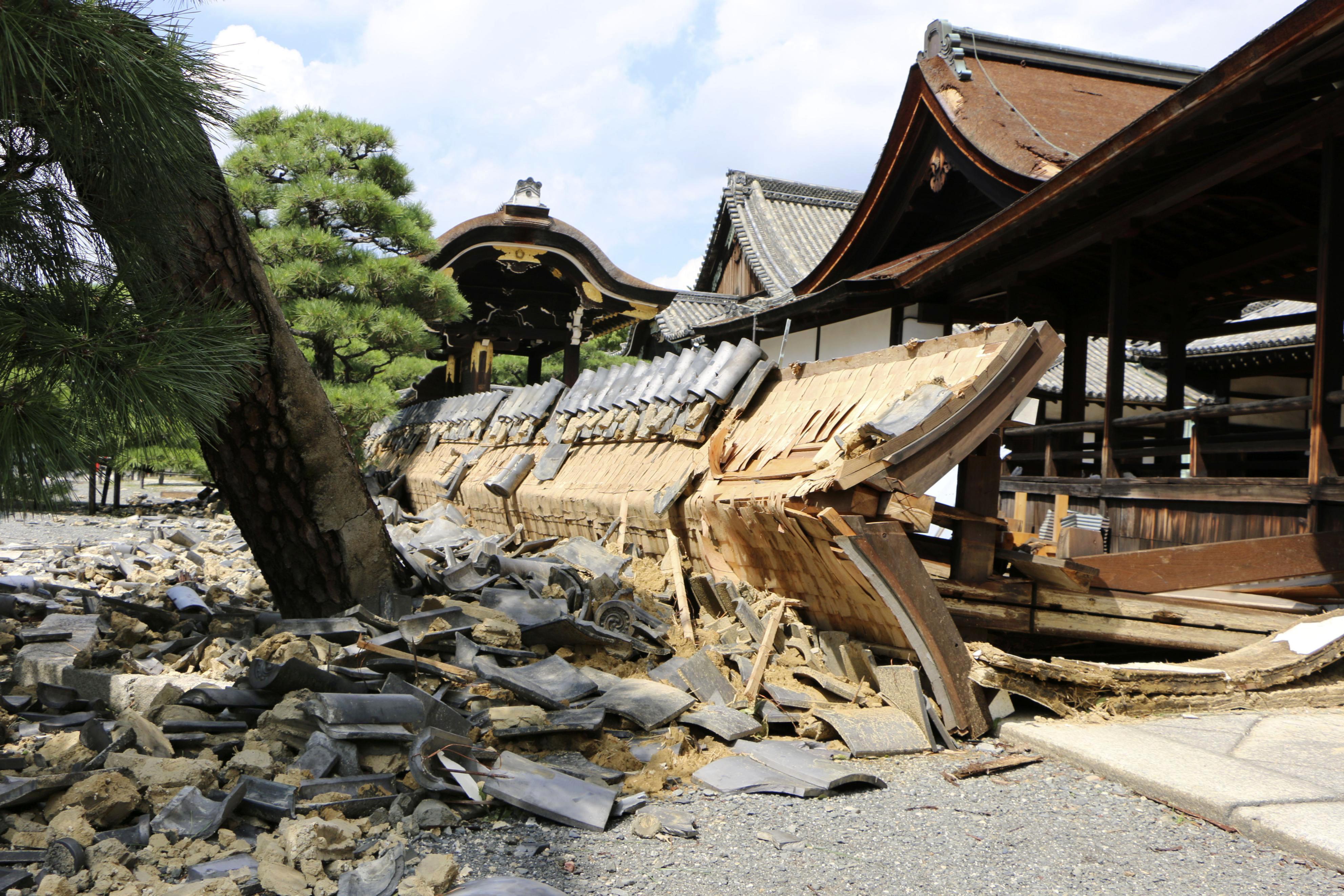 Uno de los muros de un templo considerado patrimonio de la humanidad