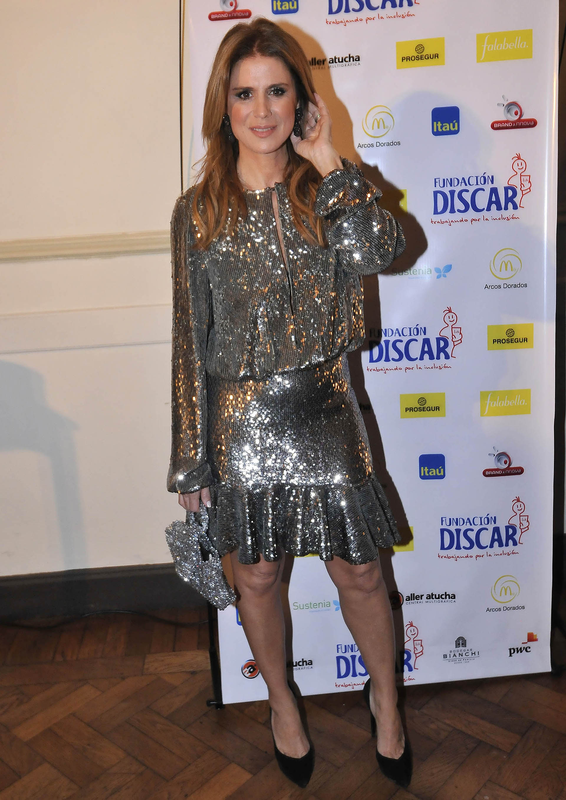 Flavia Palmiero participó en la cena solidaria de Discar (Verónica Guerman / Teleshow)