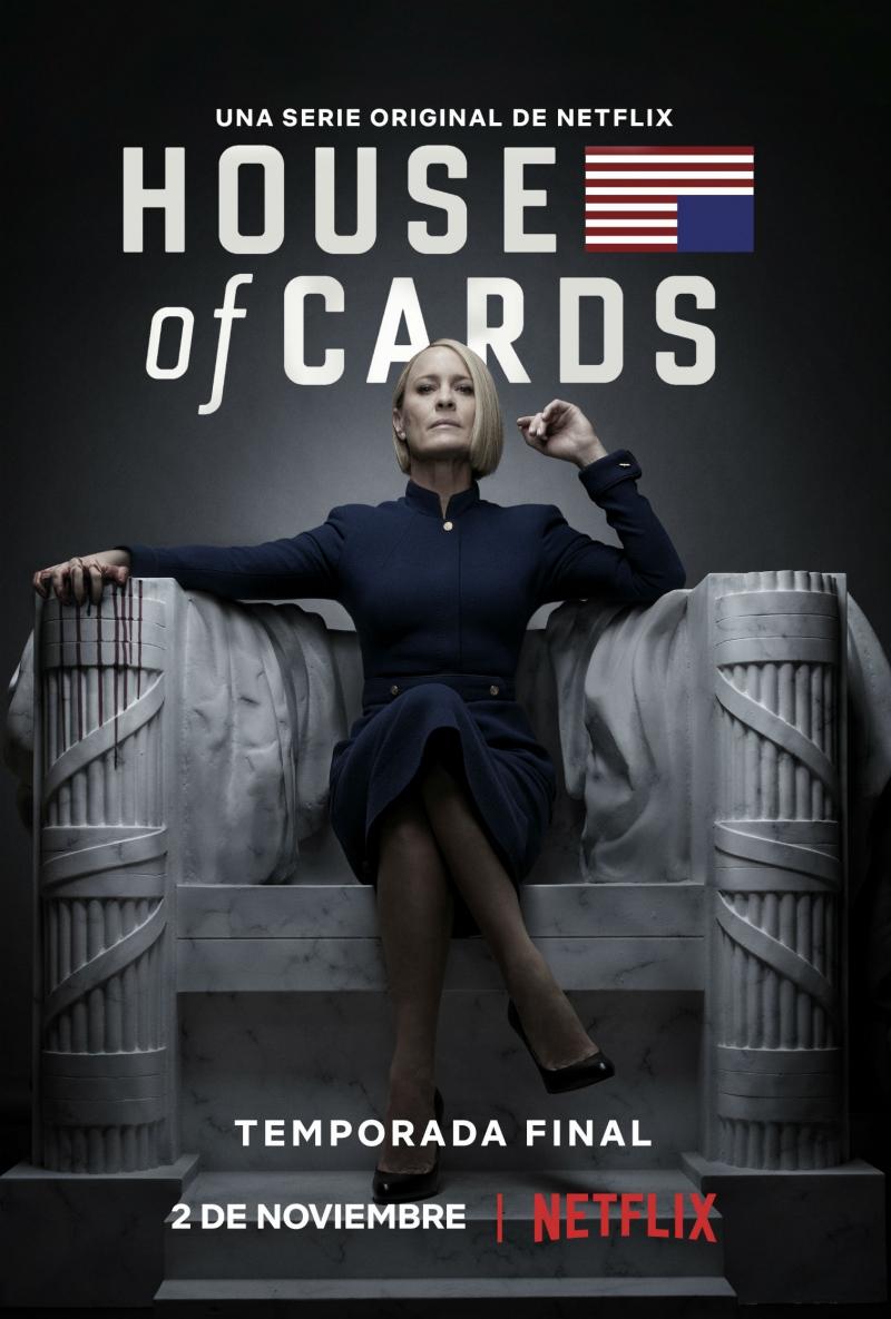 El exitoso drama político, ganador de varios premios Emmy, llega a su fin en noviembre. Diane Lane y Greg Kinnear acompañarán a Robin Wright en la sexta y última entrega