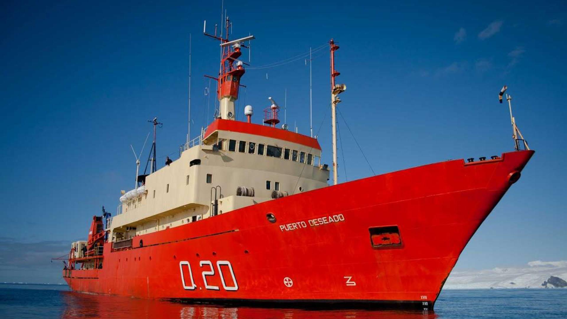 El buque hidrográfico ARA Puerto Deseado