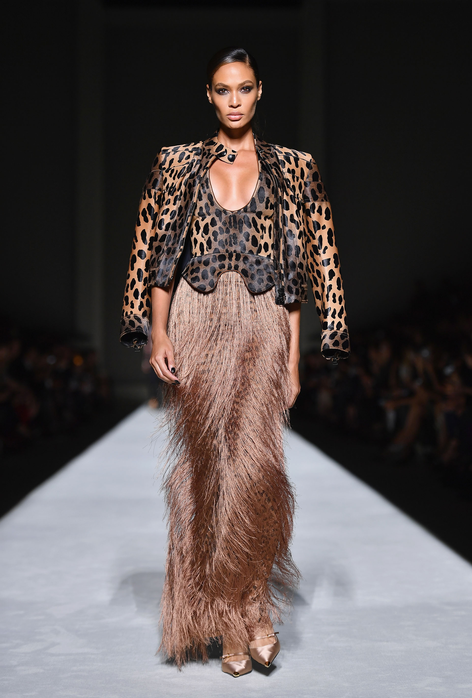 El animal print vuelve a la pasarela, se impone como tendencia (/ AFP PHOTO / Angela Weiss)