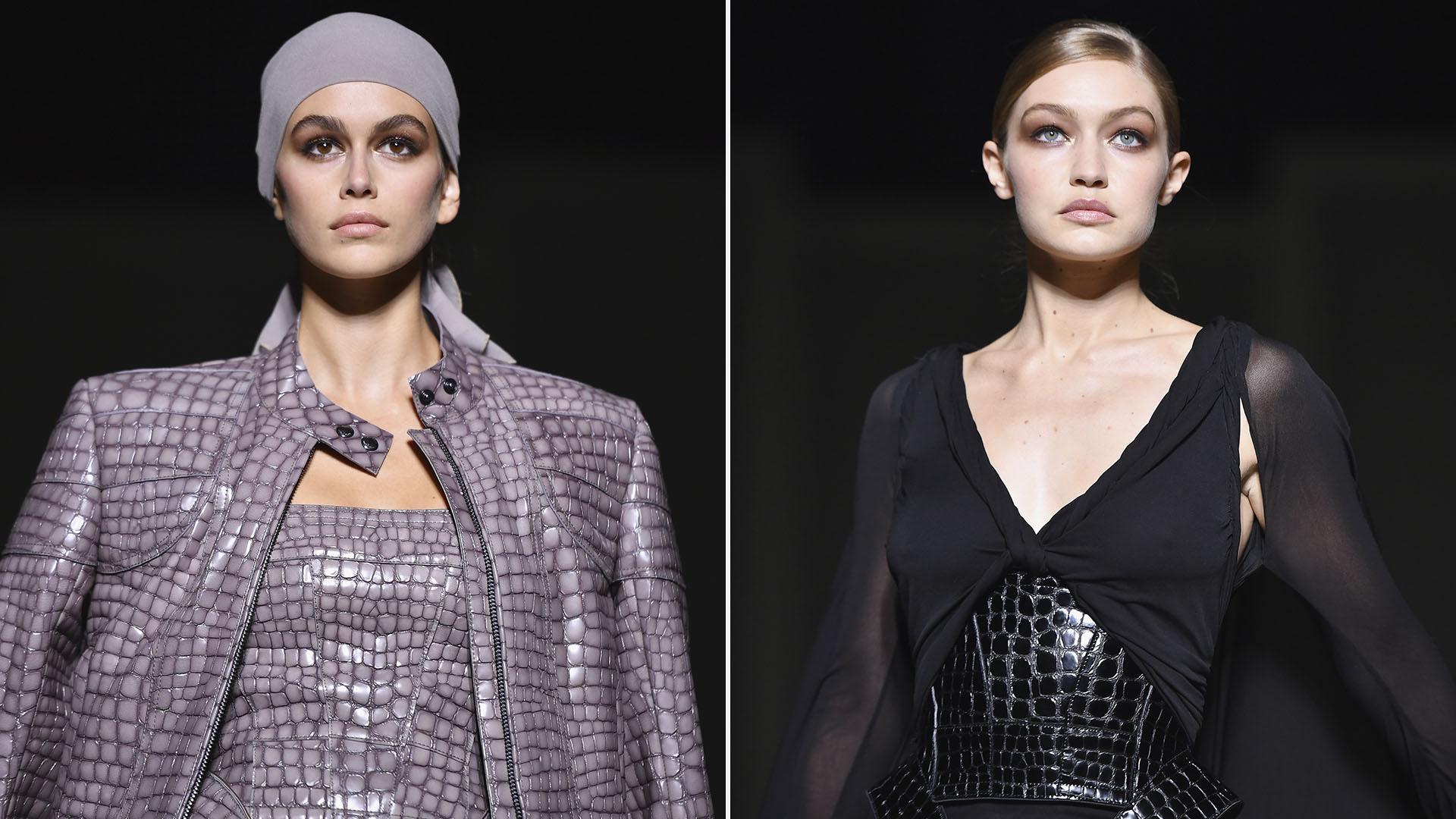 Kaia Gerber y Gigi Hadid, las modelos elegidas por Tom Ford para desfilar en Nueva York fashion week