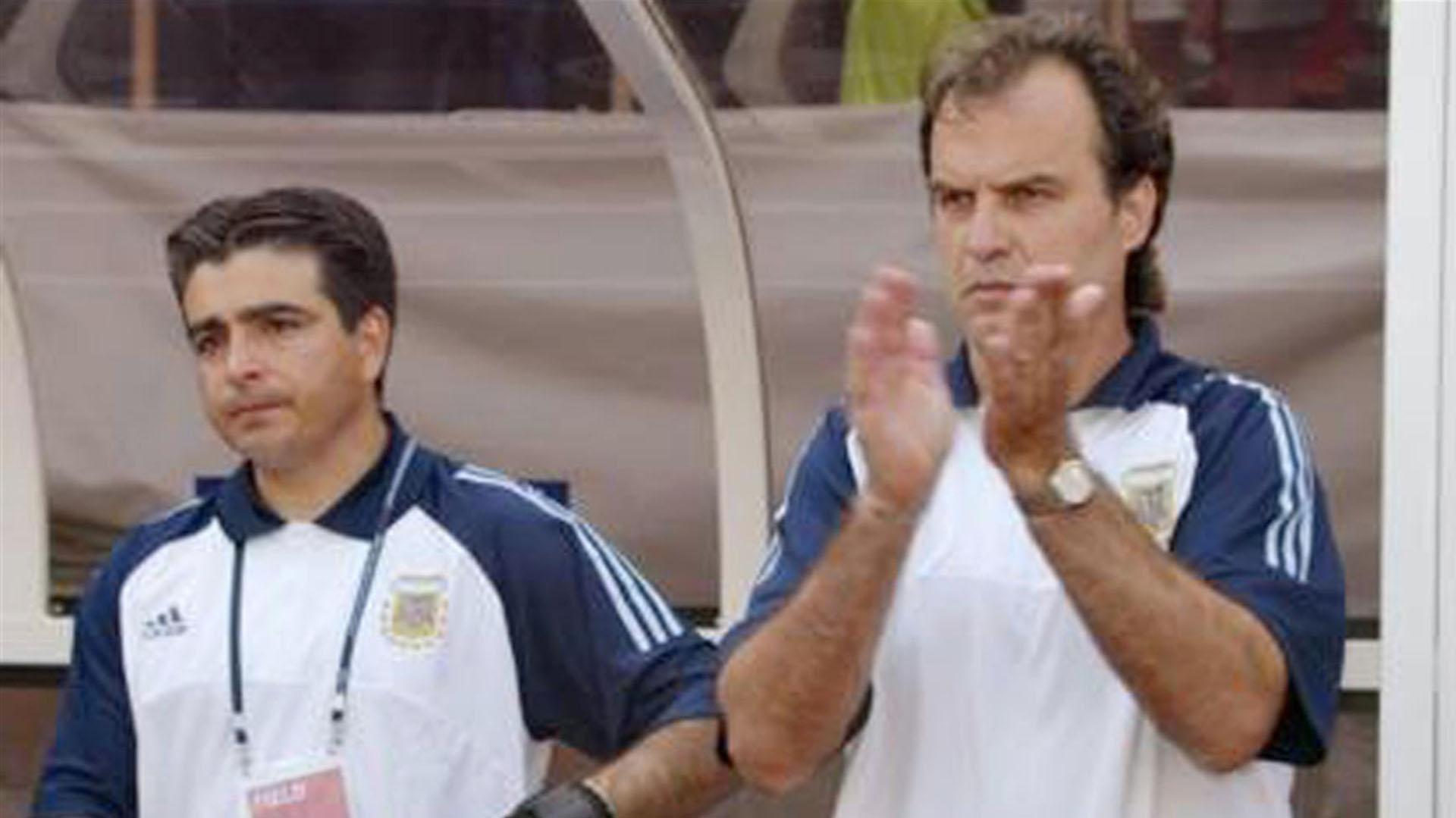 """El """"Loco"""", en la Selección, donde conoció a Gallardo"""