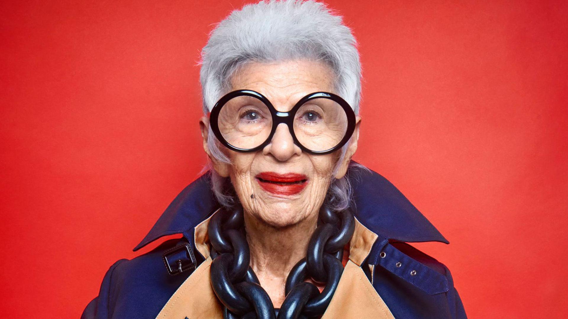Iris Apfel, la musa que inspiró esta producción de moda.