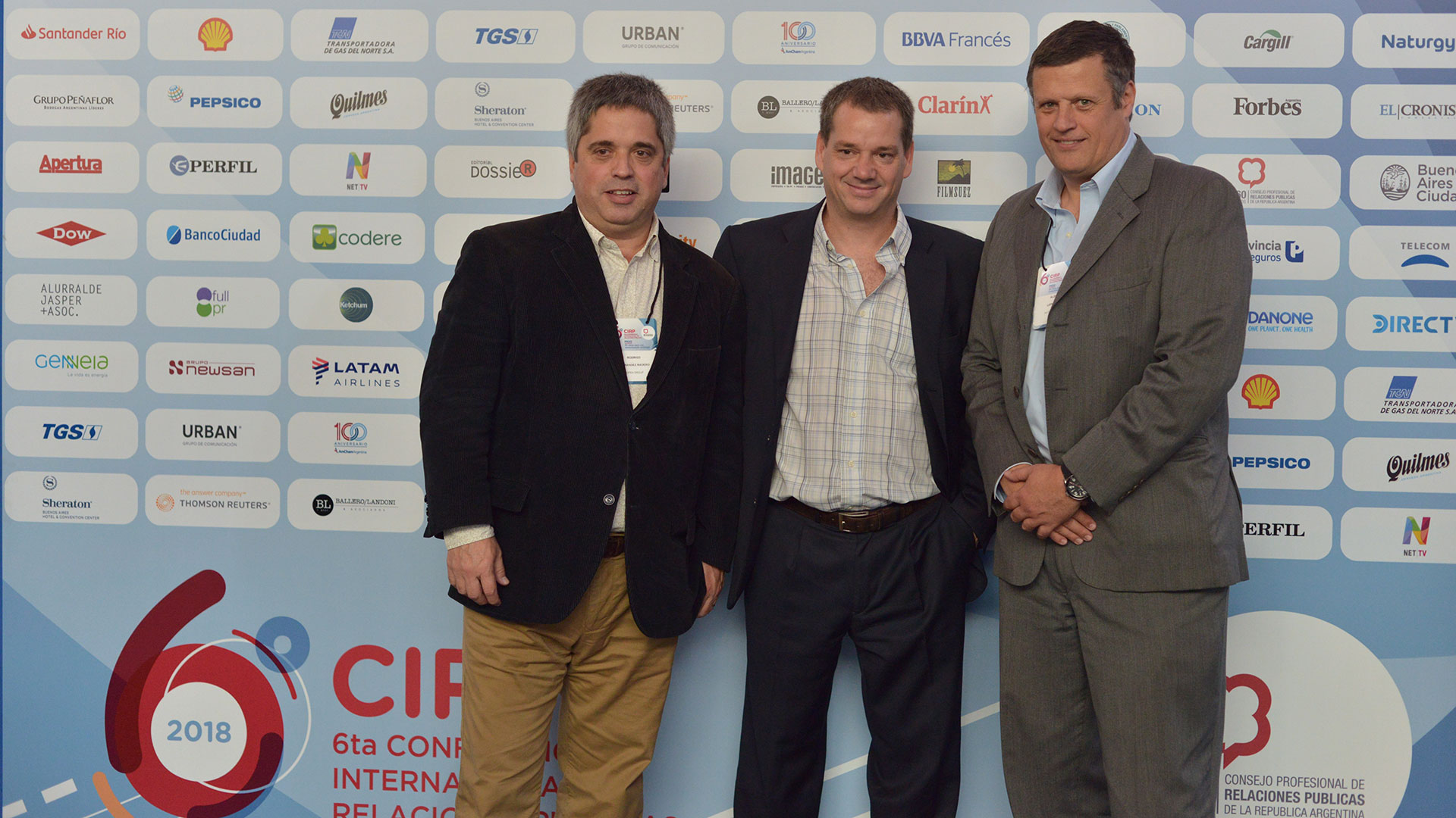 Rodrigo Fernández Madero (Director de Open Group), Patricio Borda (Director de Full PR) y Aldo Leporatti (Director General de Porter Novelli)