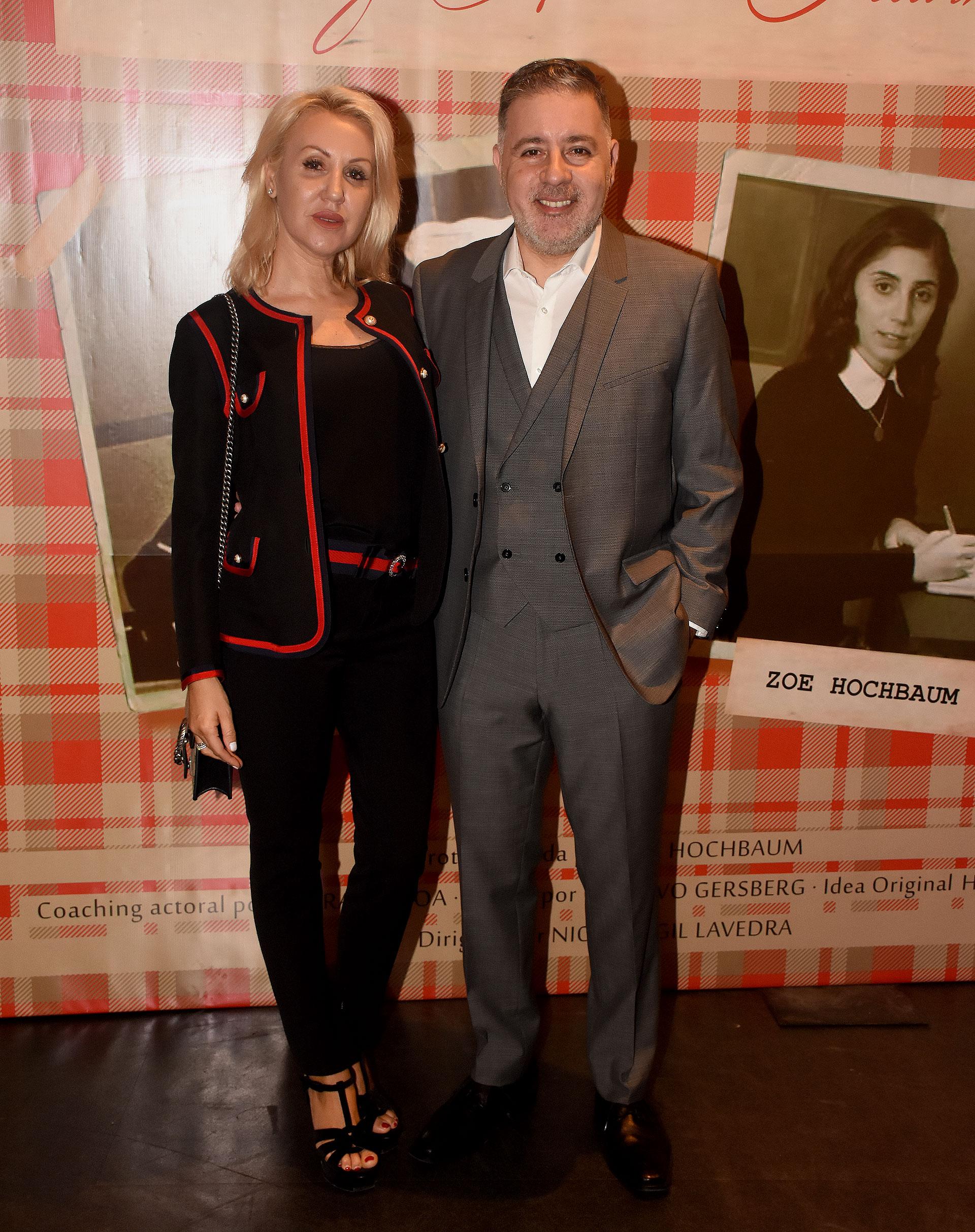 Fabián Doman y su novia Laura de Lillo