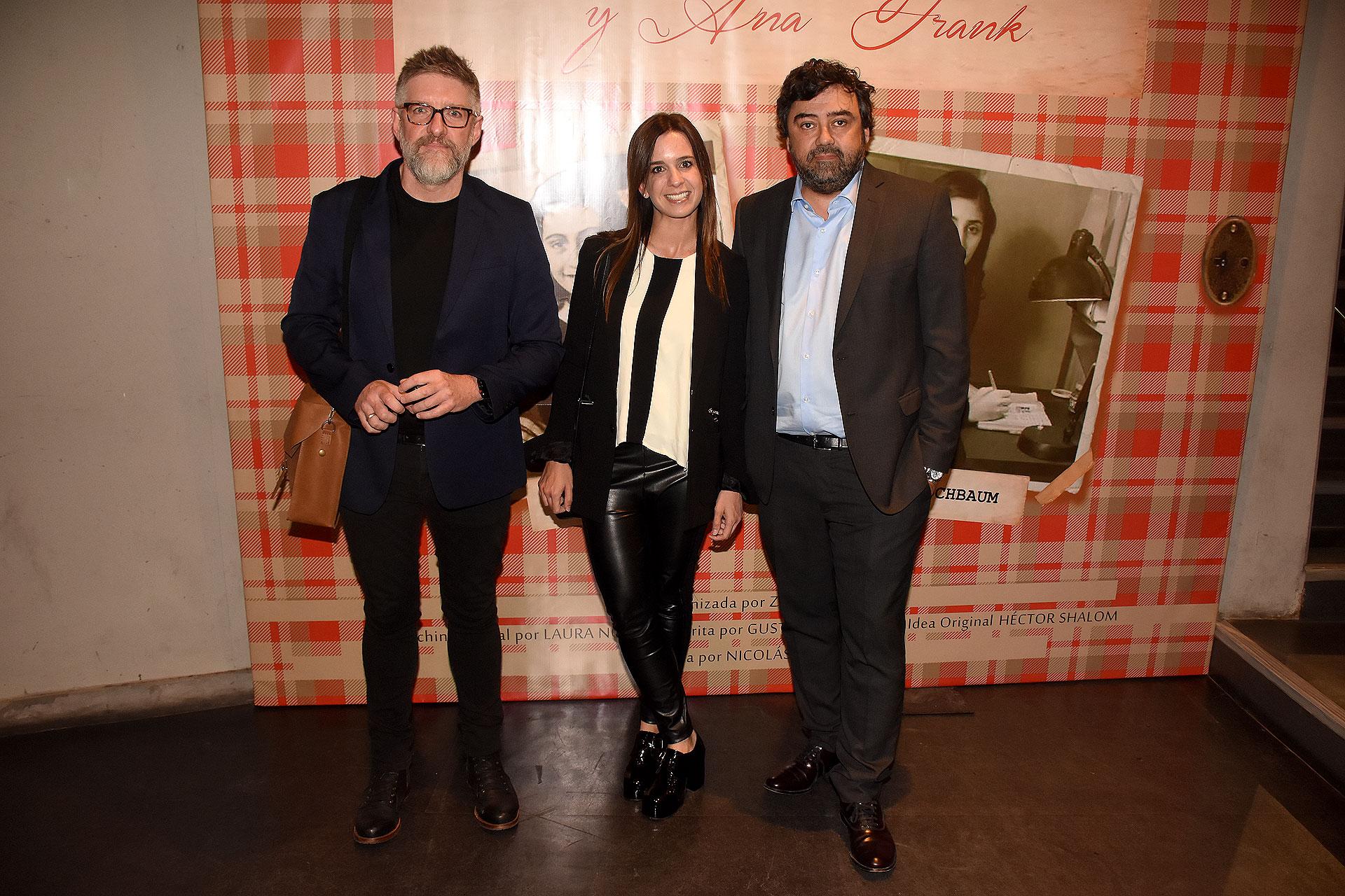 Luis Novaresio, María Guastavino y Juan Cruz Ávila