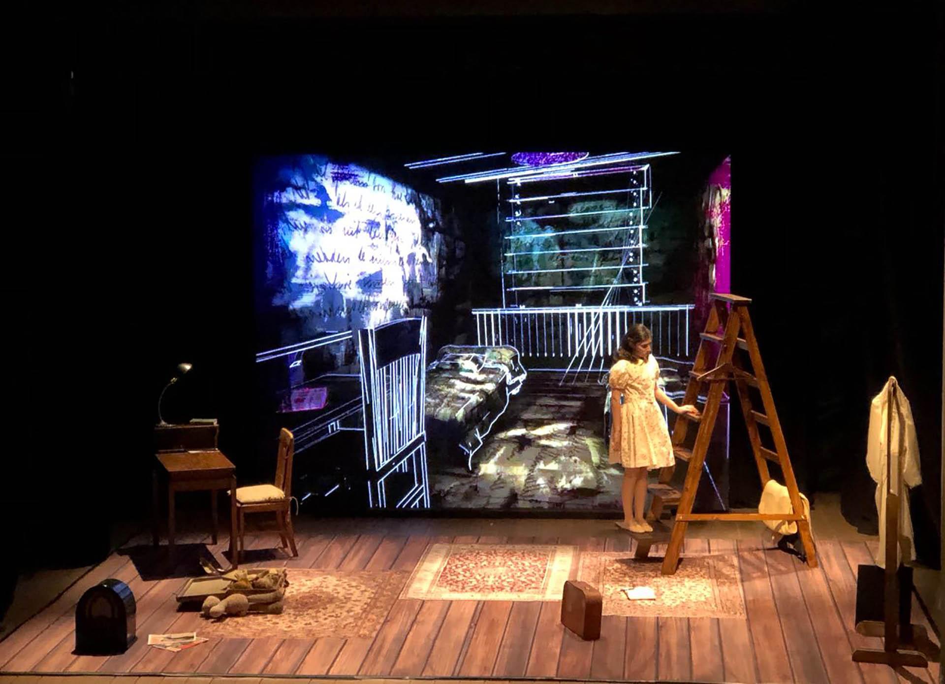 Zoe Hochbaum interpreta a Ana Frank, la niña judía que se escondió durante casi dos años en el altillo de su casa de Ámsterdam, escapando del nazismo(Nicolás Stulberg / Teleshow)