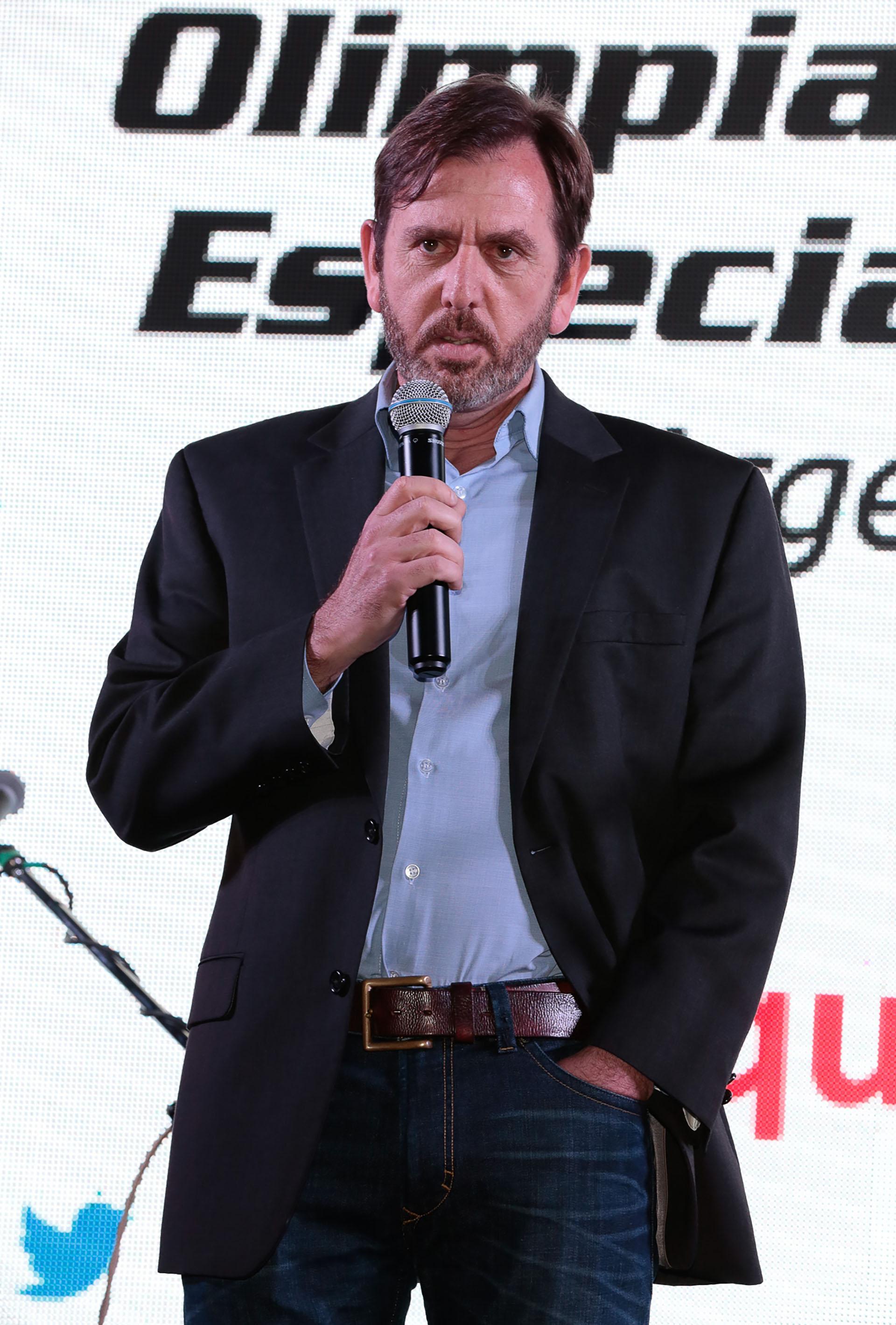 El presidente de Olimpíadas Especiales Argentina (OEA) Diego Pando