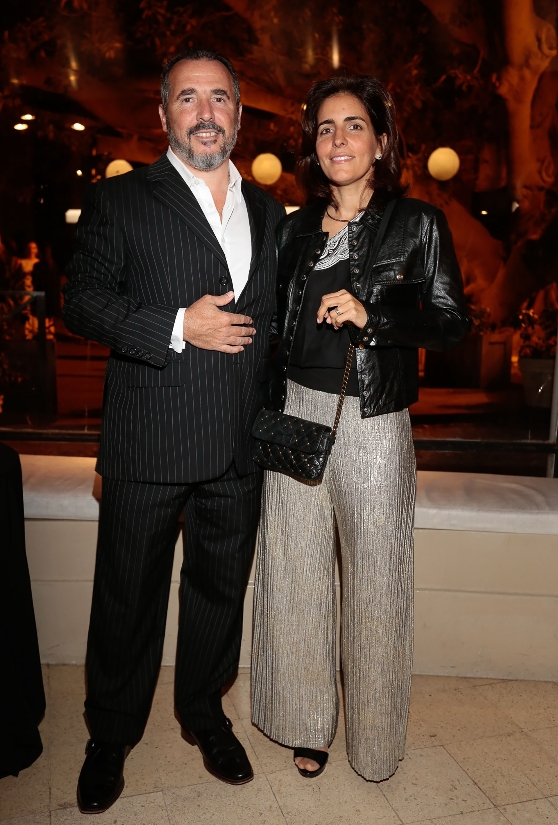 Ezequiel Berrenechea (Aeropuertos Argentina 2000) y su mujer Jimena