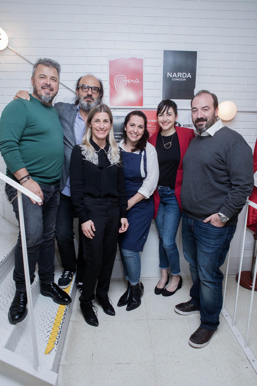 Donato De Santis, Martín Pittaluga, Pamela Villar, Narda Lepes, Ximena Saenz y Juan Gaffuri