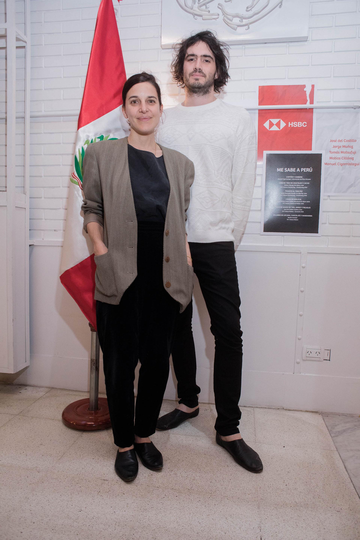 Marina Bissone y su pareja