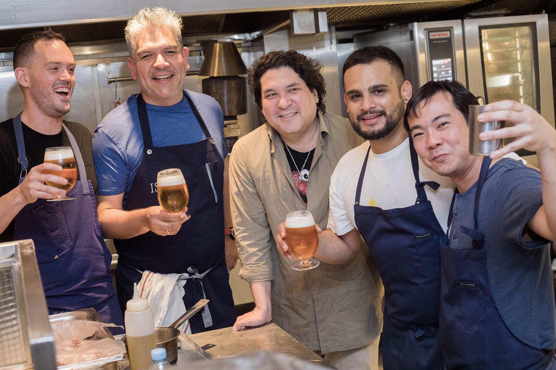 Matías Cilloniz, José del Castillo, Gastón Acurio, Jorge Muñoz y Tomás Matsufuji