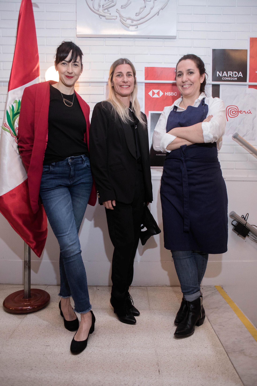 Ximena Saenz, Pamela Villar y Narda Lepes