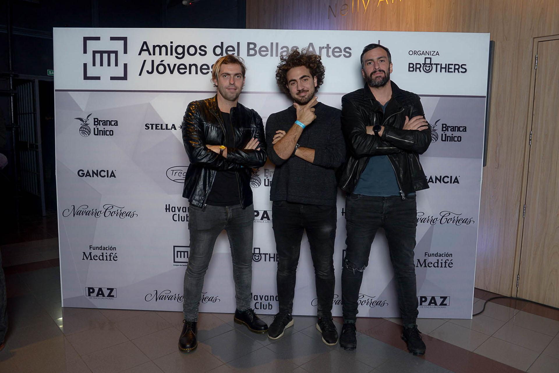 Andrés Prieto, Tomás Karagosian y Felipe Weiss