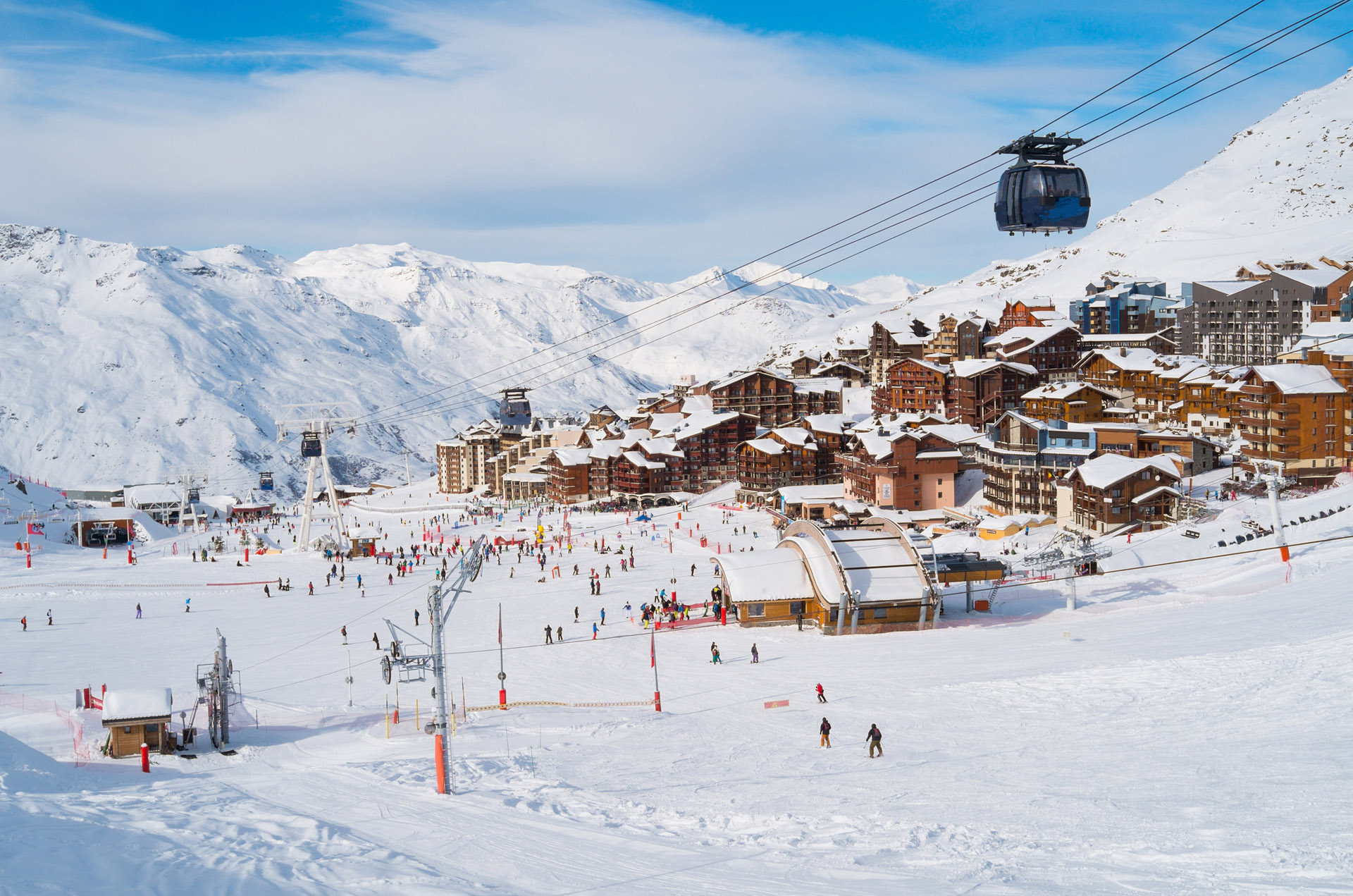Val Thorens, en los Alpes franceses, es uno de los destinos más codiciados por los esquiadores jóvenes.