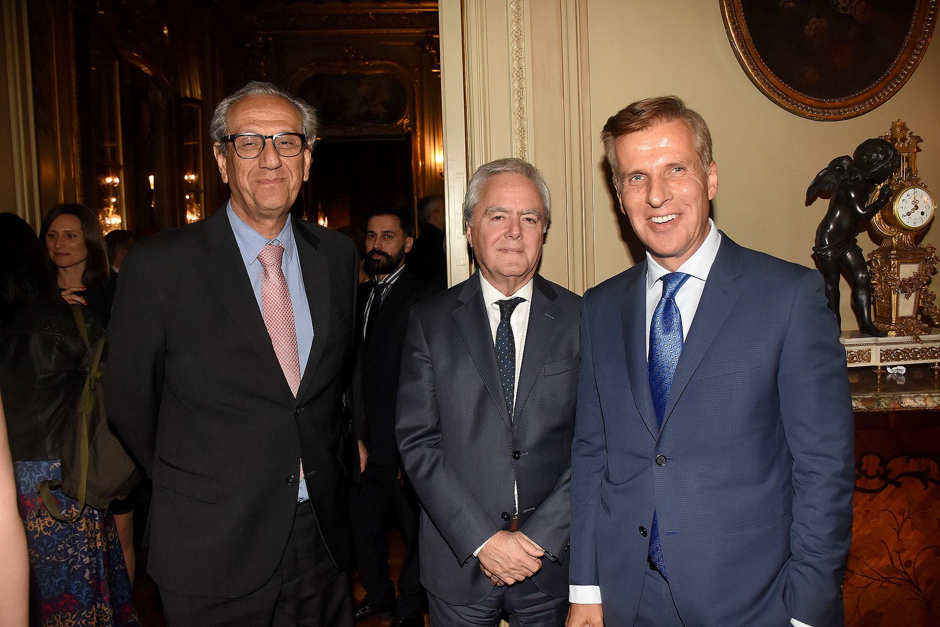 Facundo Suárez Lastra, Federico Pinedo y Martín Redrado
