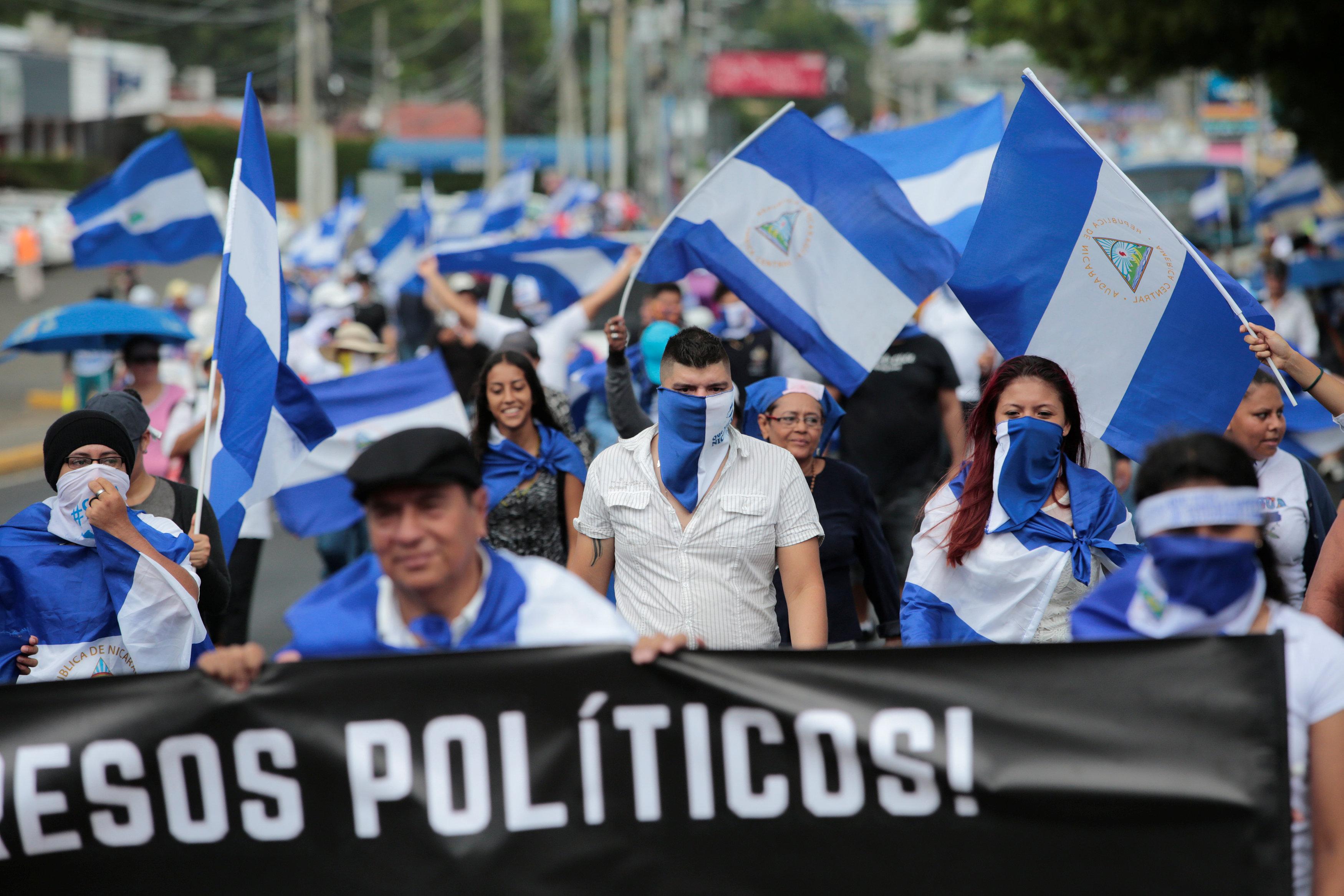 Una de las protestas contra Ortega (REUTERS/Oswaldo Rivas)