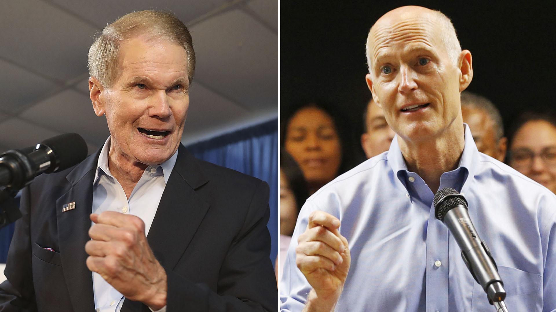 Bill Nelson y Rick Scott, una de las competencias más reñidas, en Florida