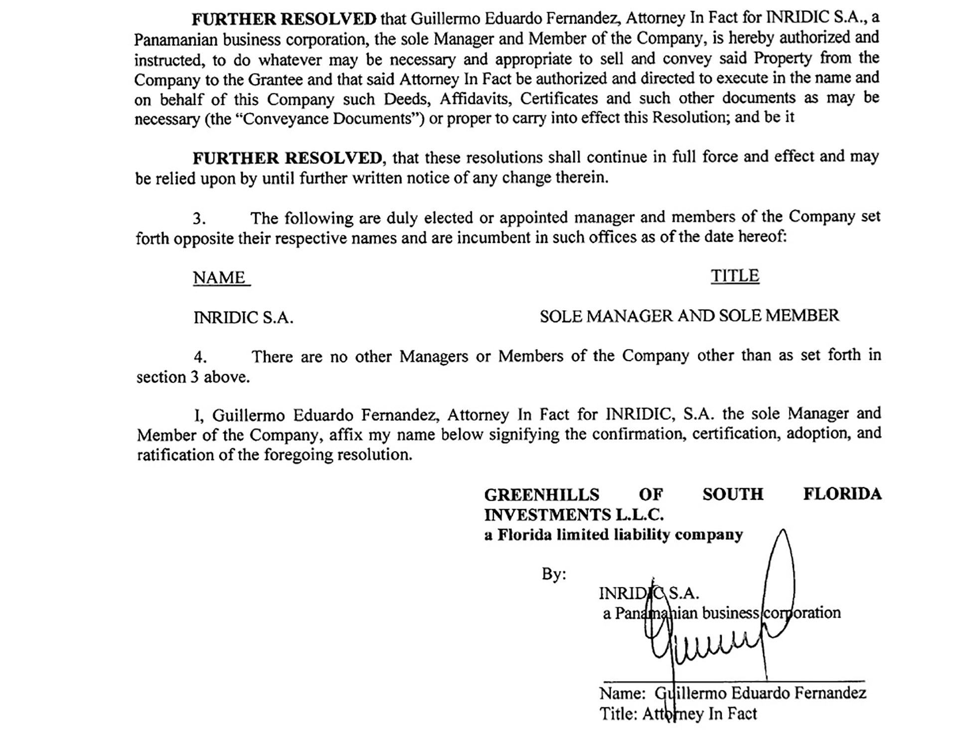 """Documentos Guillermo """"El Ñoqui"""" Fernández INRIDIC"""