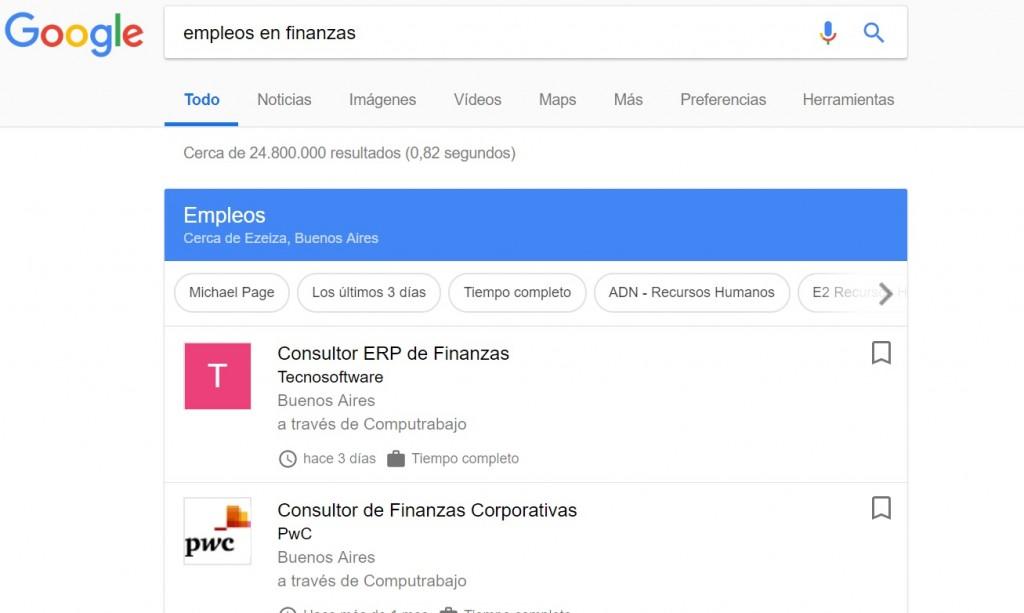 Google empleos en google