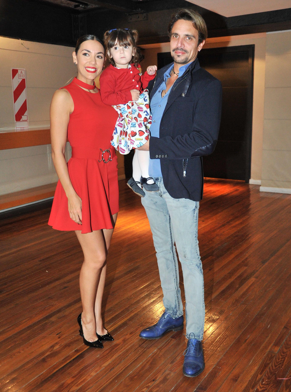 Floppy con su marido y su nena (Fotos: Teleshow/Vero Guerman)