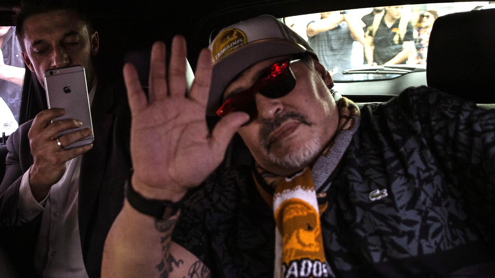La prensa de México informó que Maradona firmó un contrato por 11 meses con Dorados, acordando un salario de 150 mil dólares mensuales (AFP)
