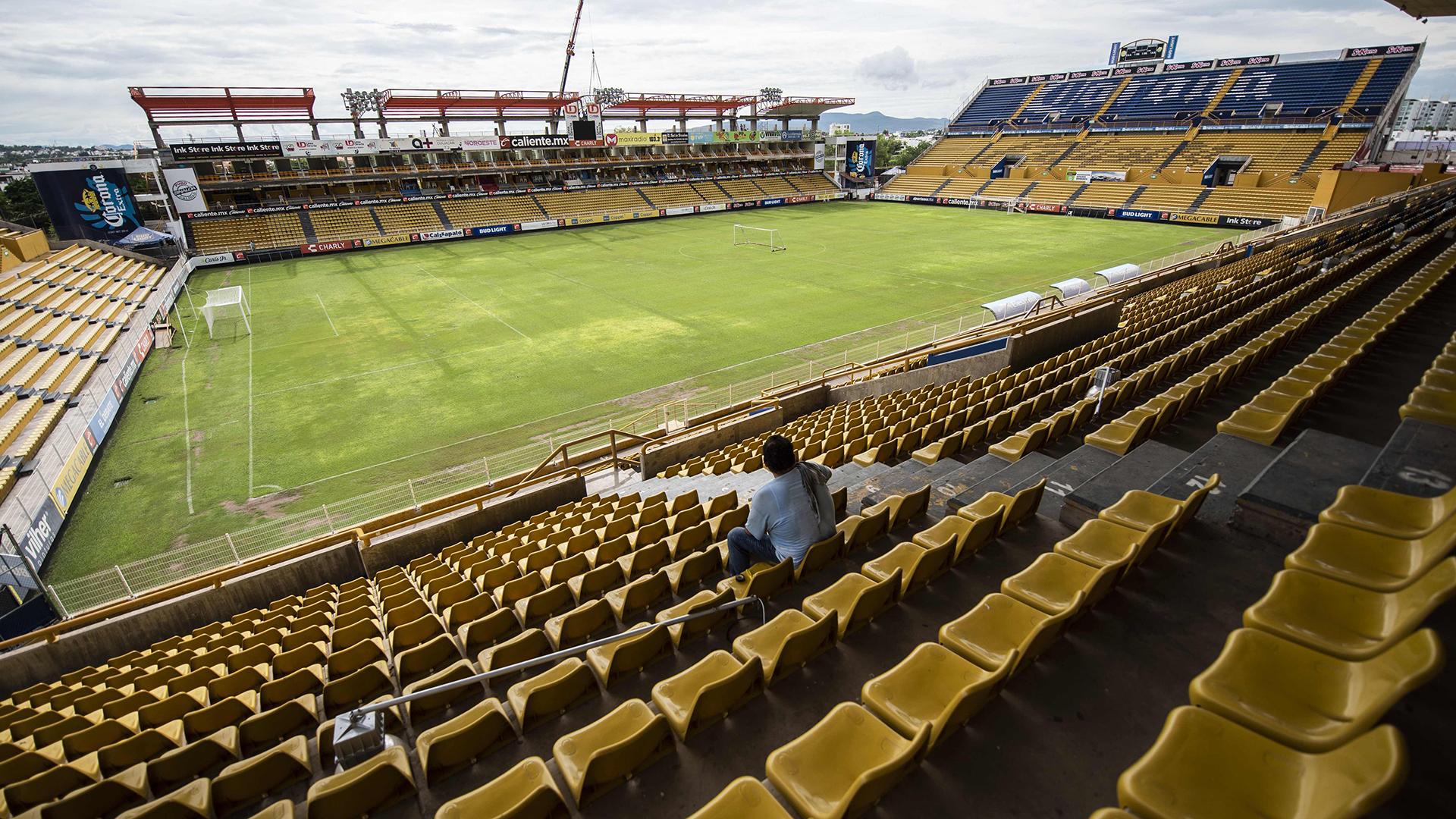 Otra imagen del estadio Banorte a la espera del nuevo entrenador de su equipo, los Dorados de Sinaloa, Diego Armando Maradona (AFP)