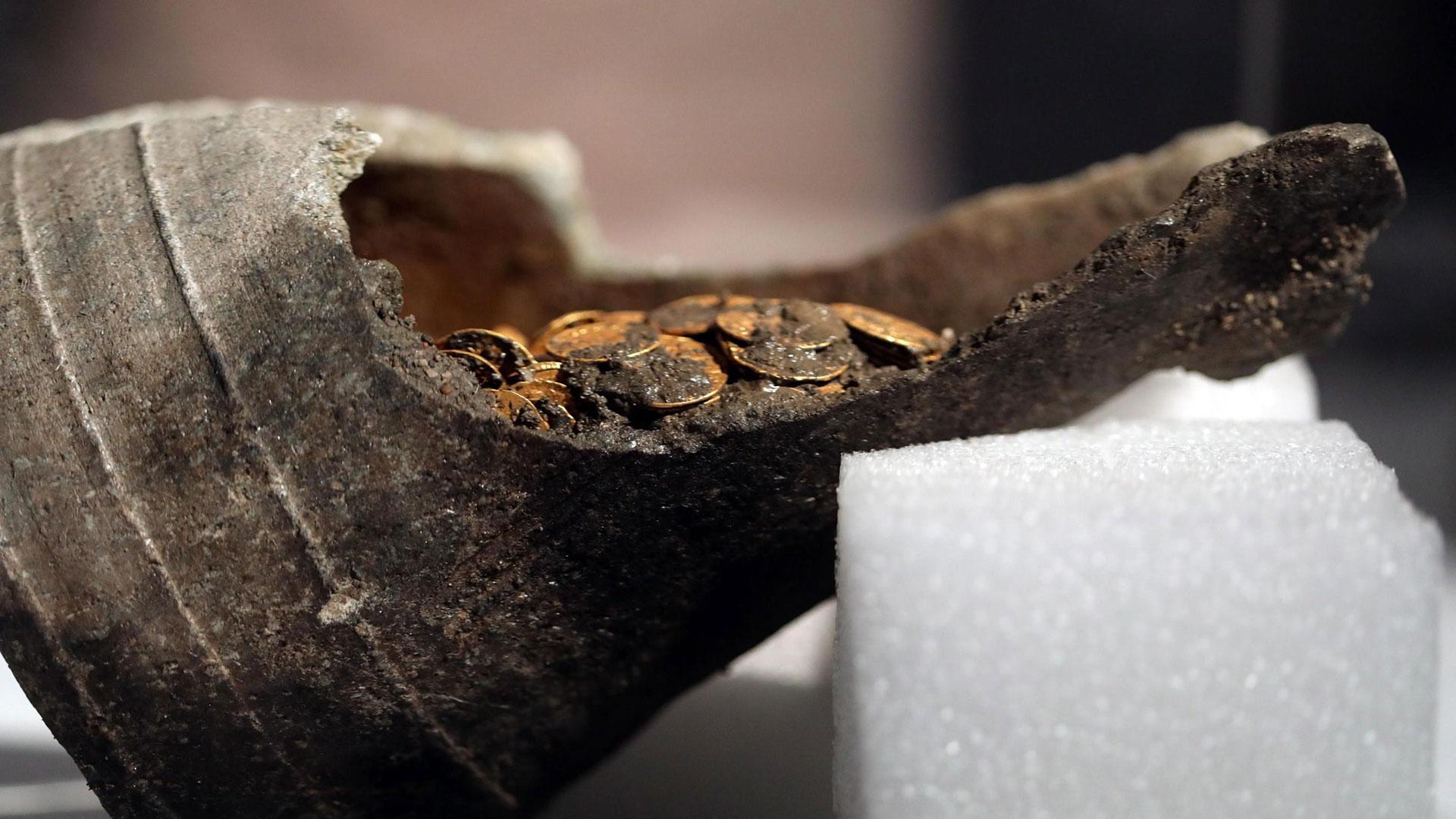 Las monedas datan del siglo V