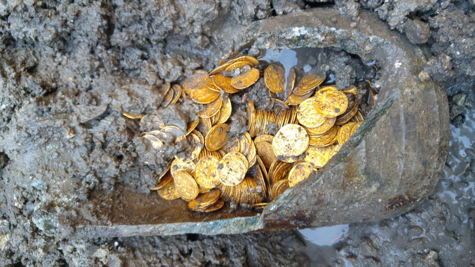 Las monedas pertenecían al impero romano
