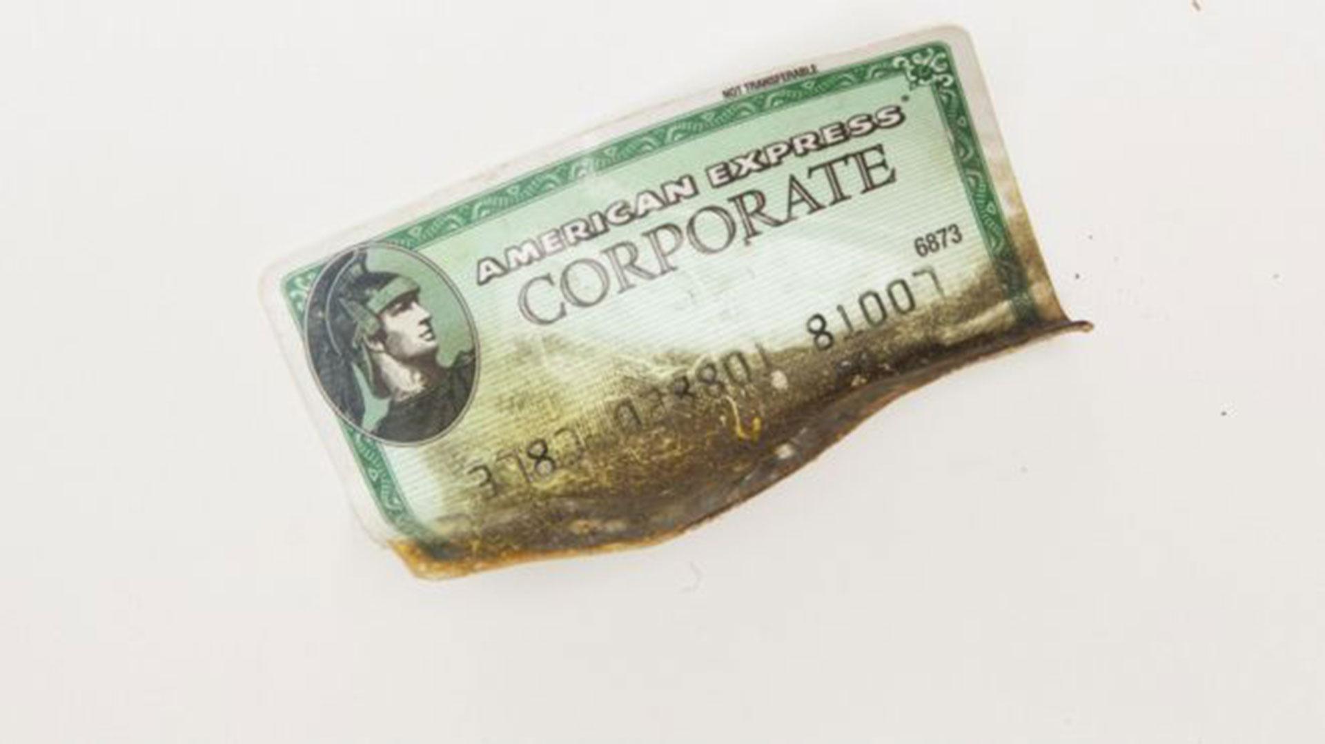 La tarjeta de crédito de Gennie Gambale